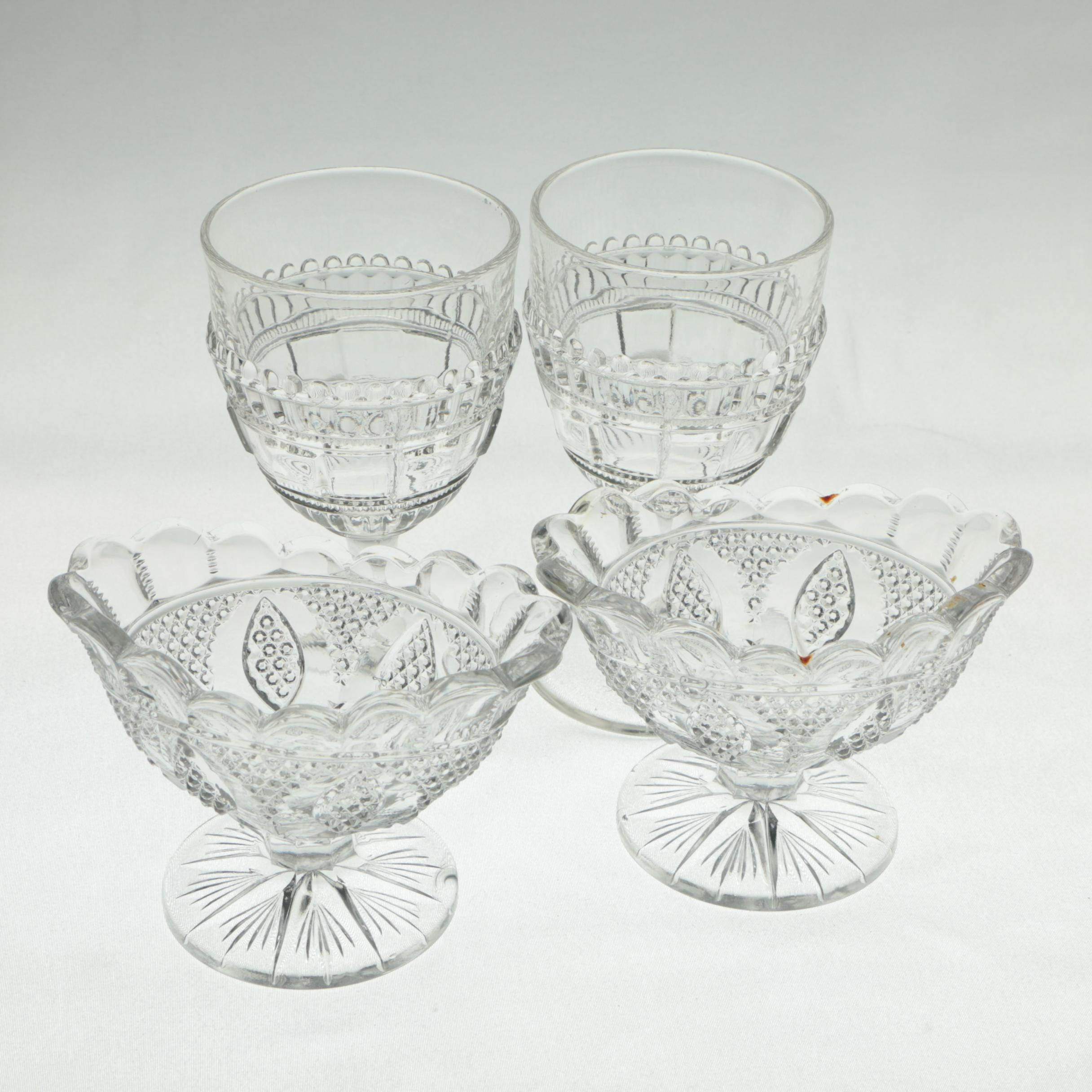 Vintage Glass Goblets and Sherbet Cups