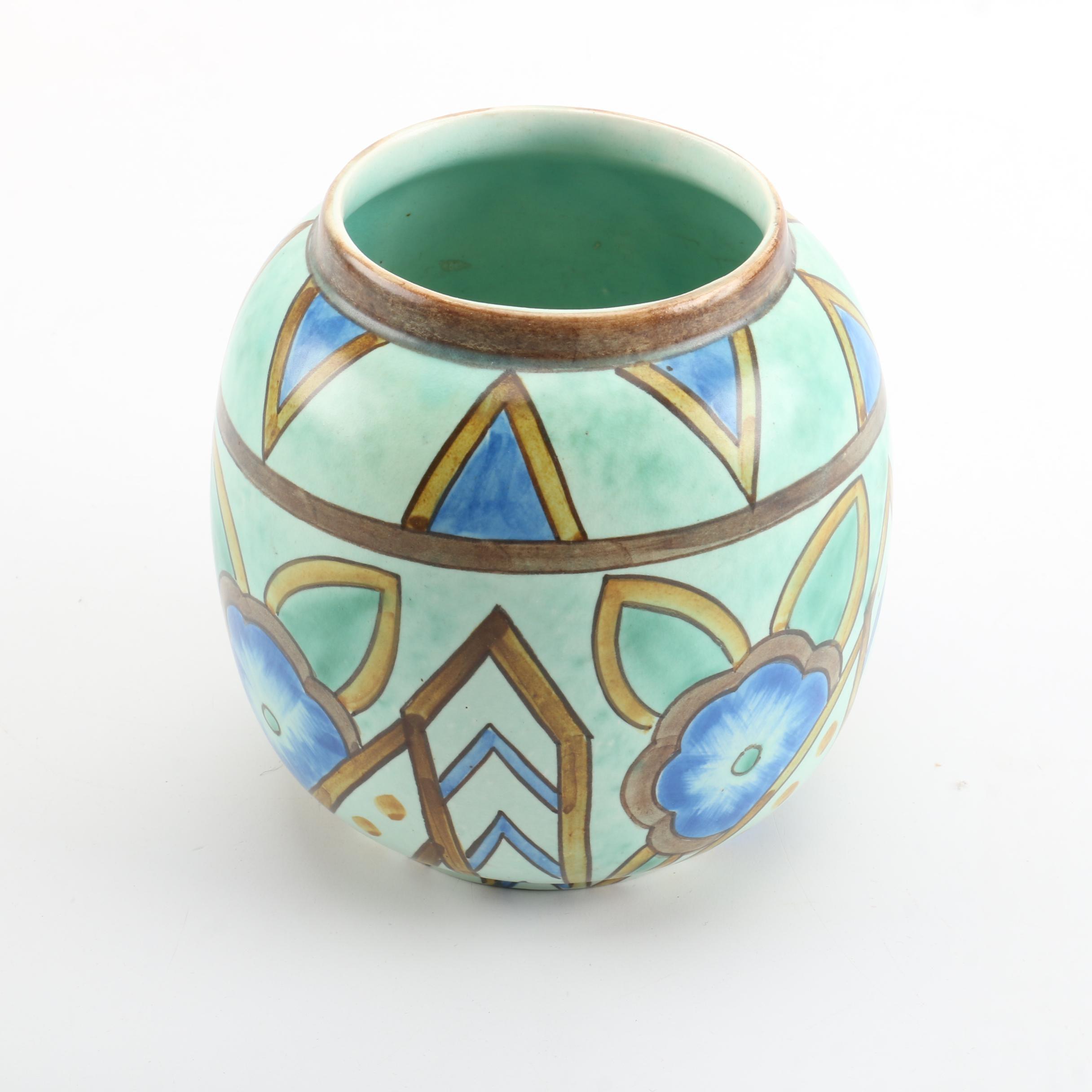 Wadeheath Flaxman Ware Art Deco Style Vase