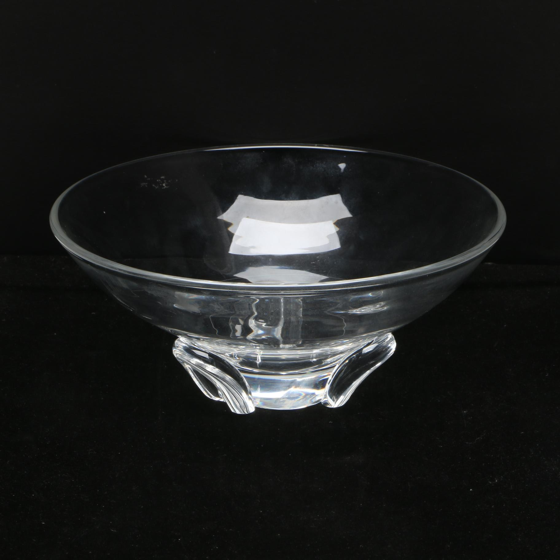 "Mid Century Steuben ""Trefoil"" Crystal Bowl"