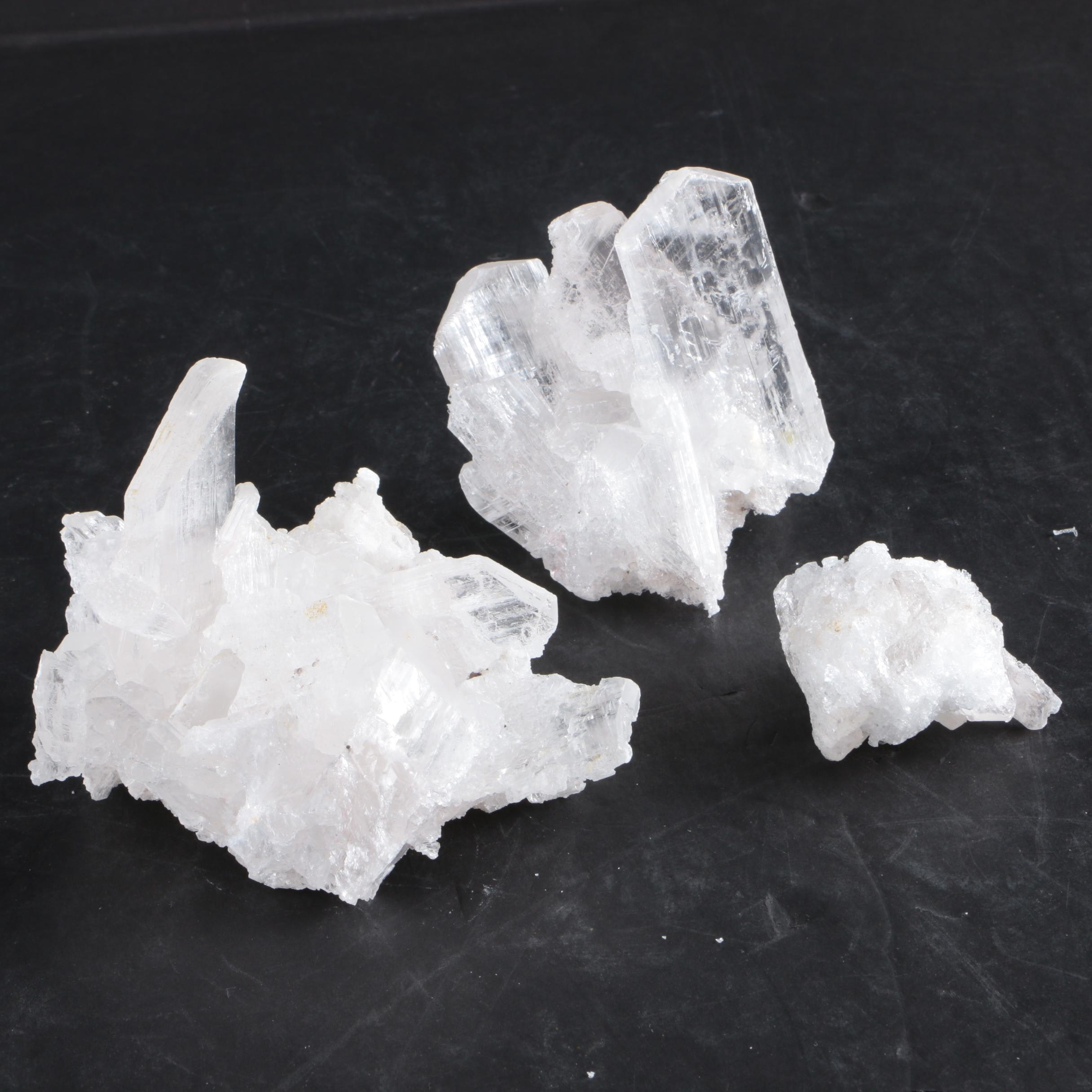 Selenite Crystal Specimens
