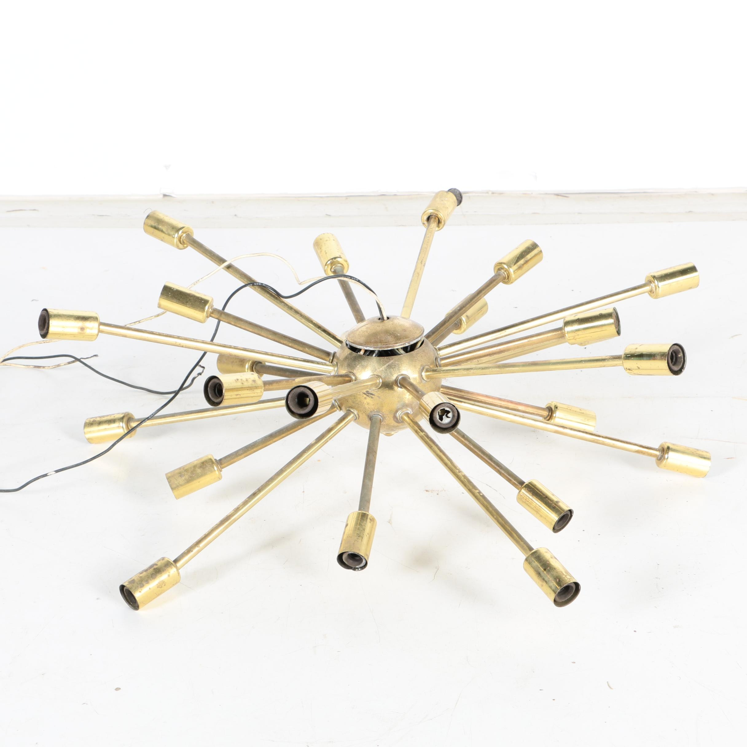 "Vintage ""Sputnik"" Brass Pendant Light"