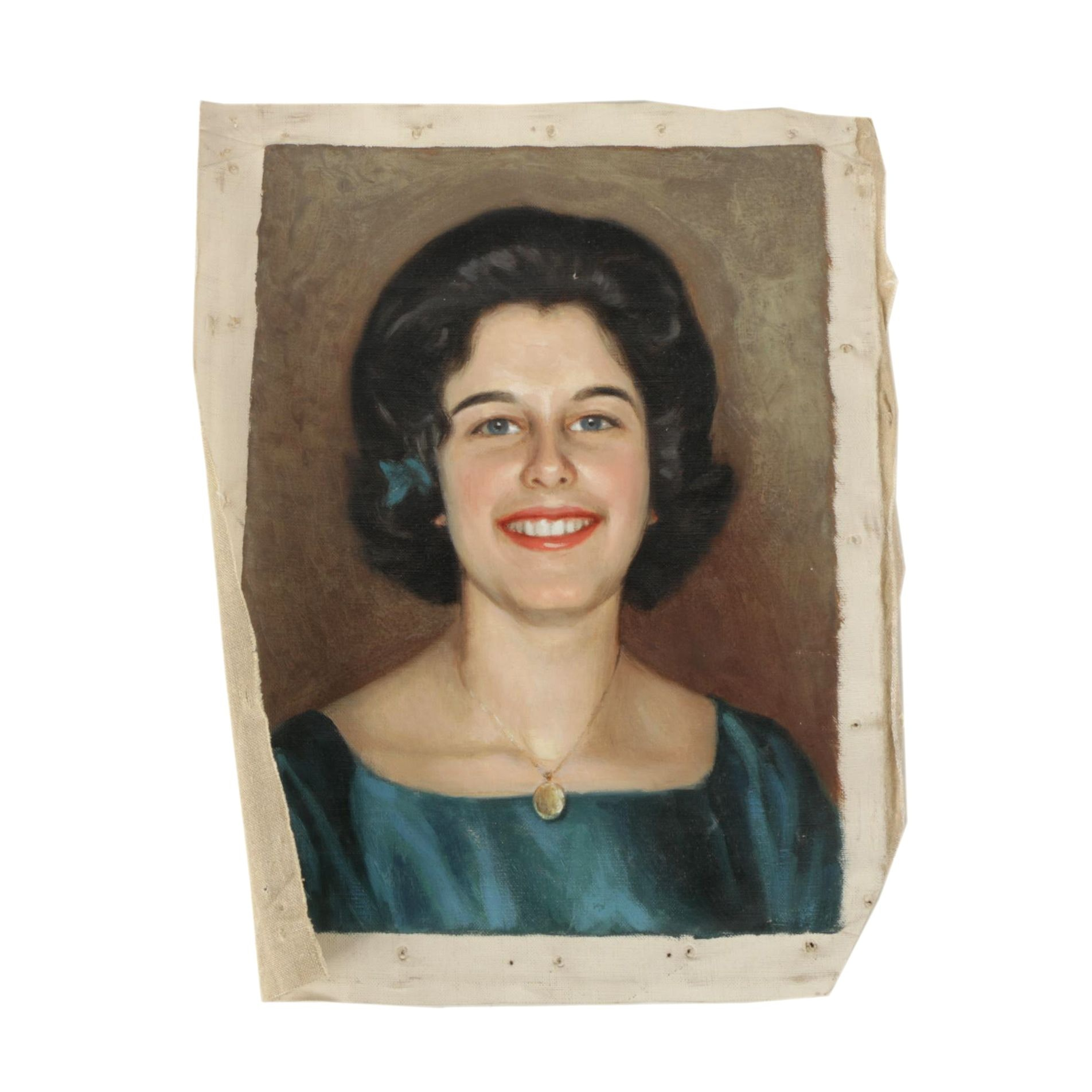 Mid-20th Century Realistic Oil Painting of Portrait