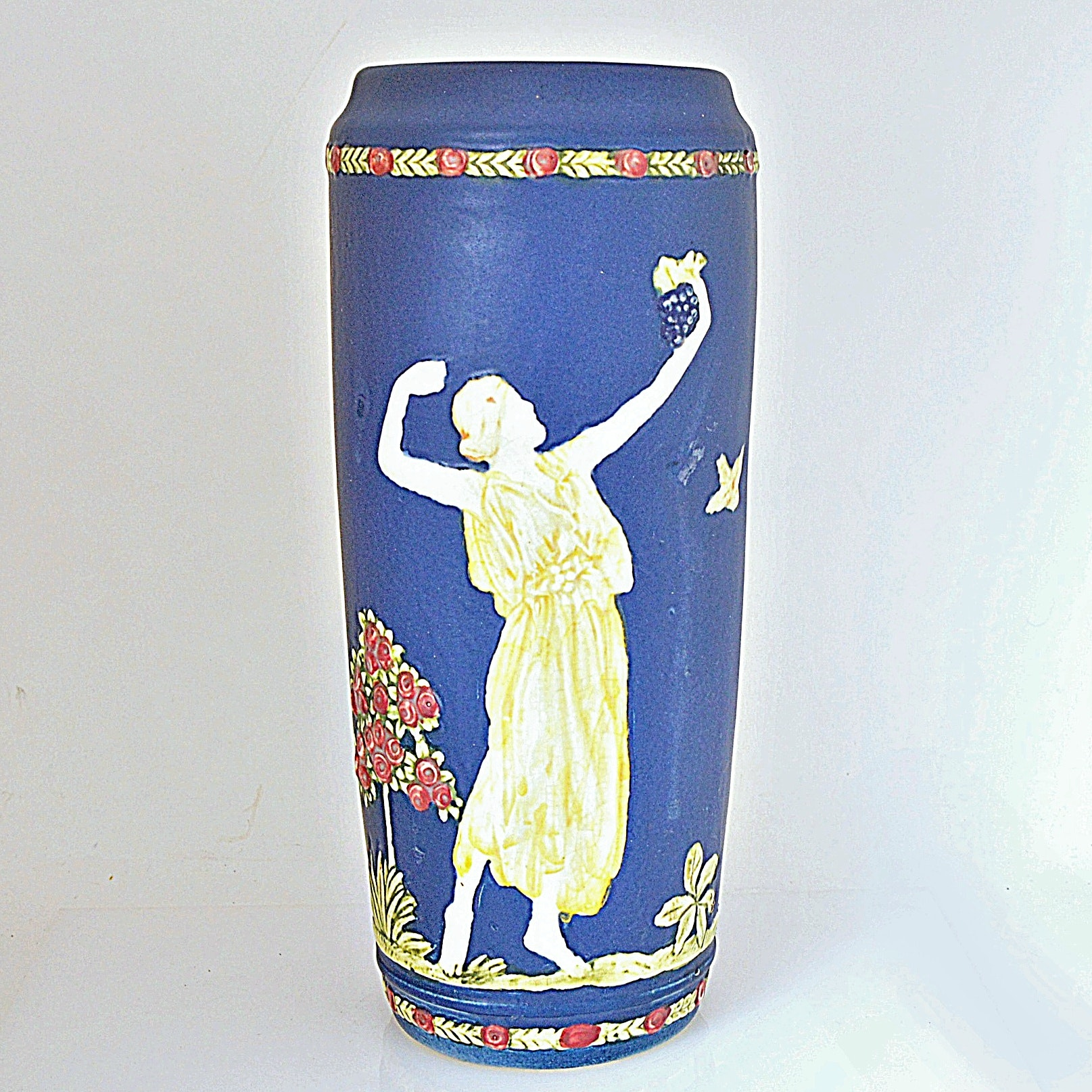 "1920s Weller Pottery ""Blue Ware"" Vase"