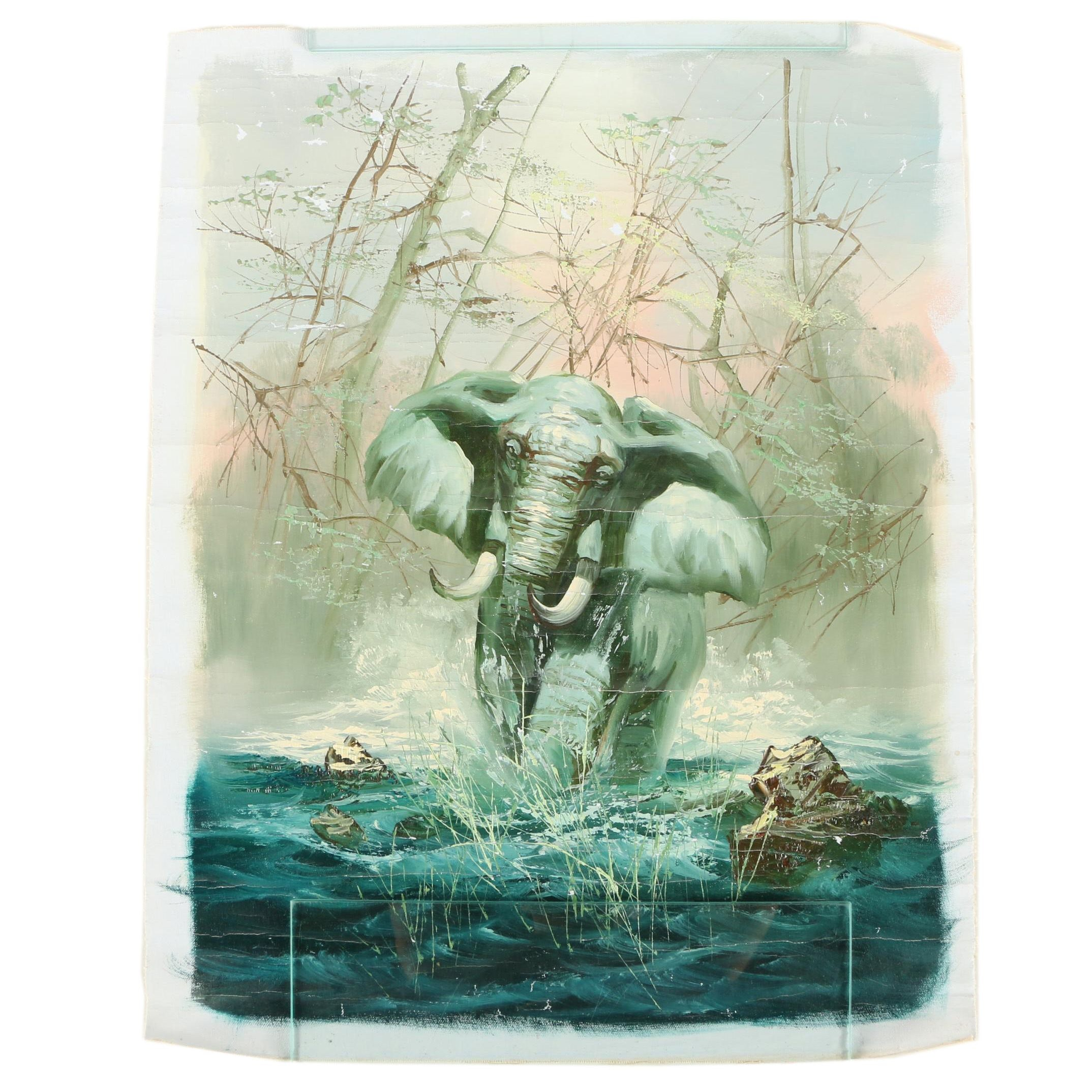 Oil Painting of an Elephant