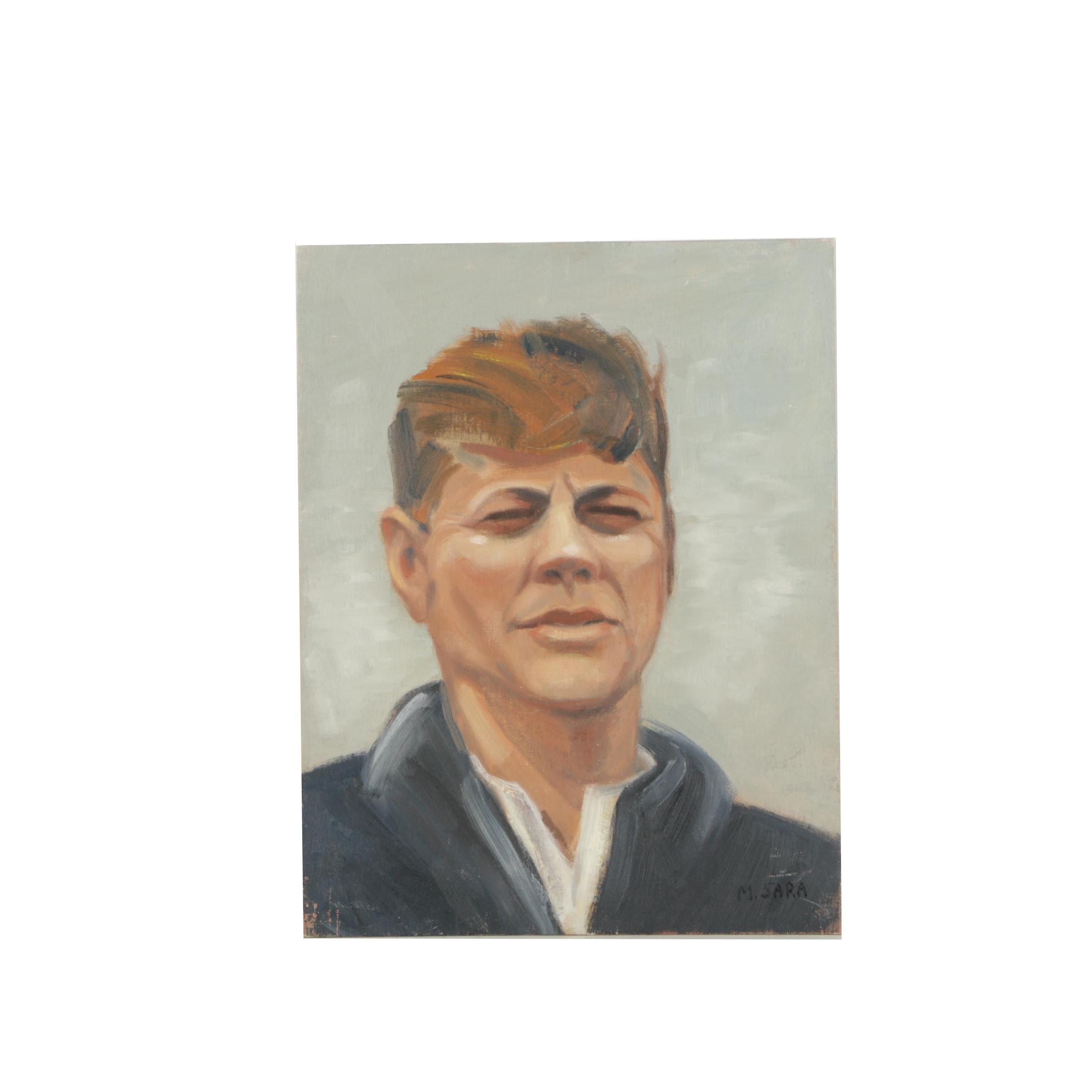 "M. Sara Oil Painting ""Kennedy"""