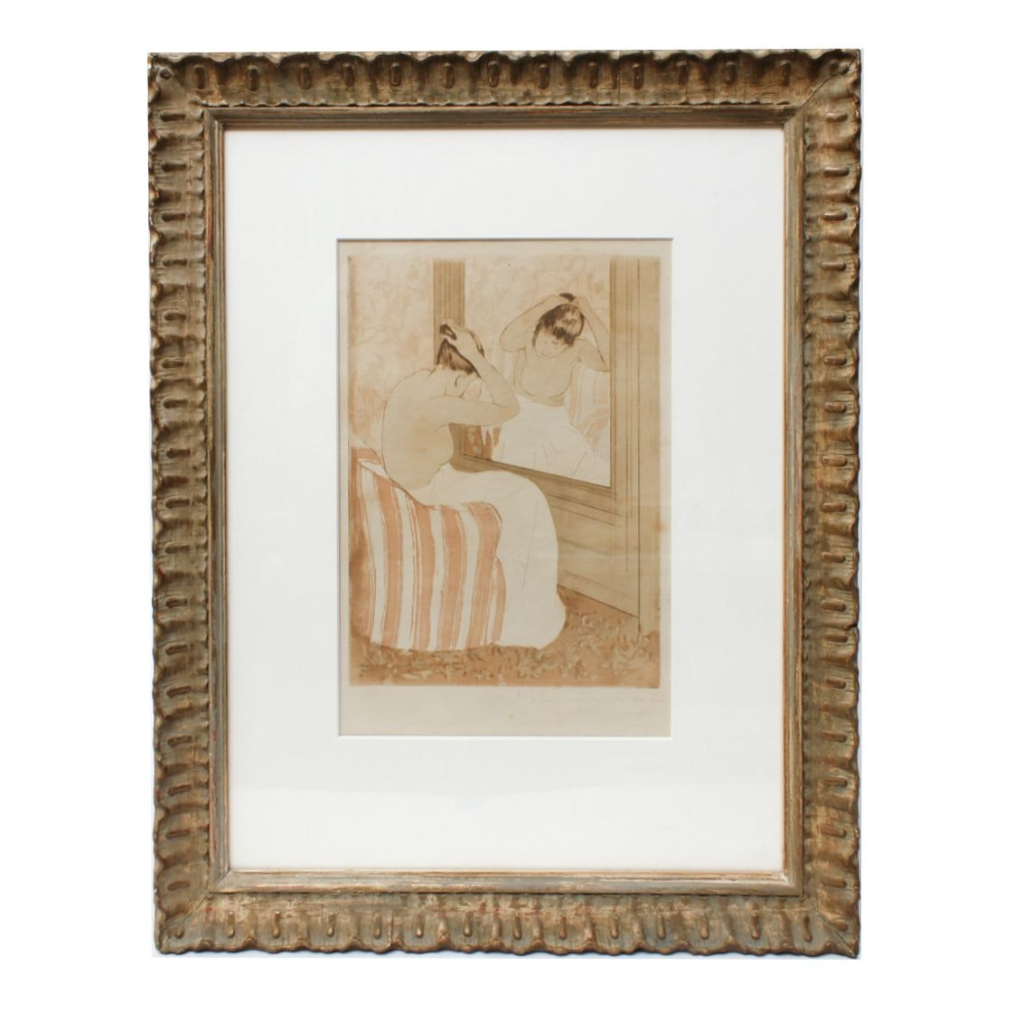 """Reproduction Print After Mary Cassatt """"The Coiffure"""""""
