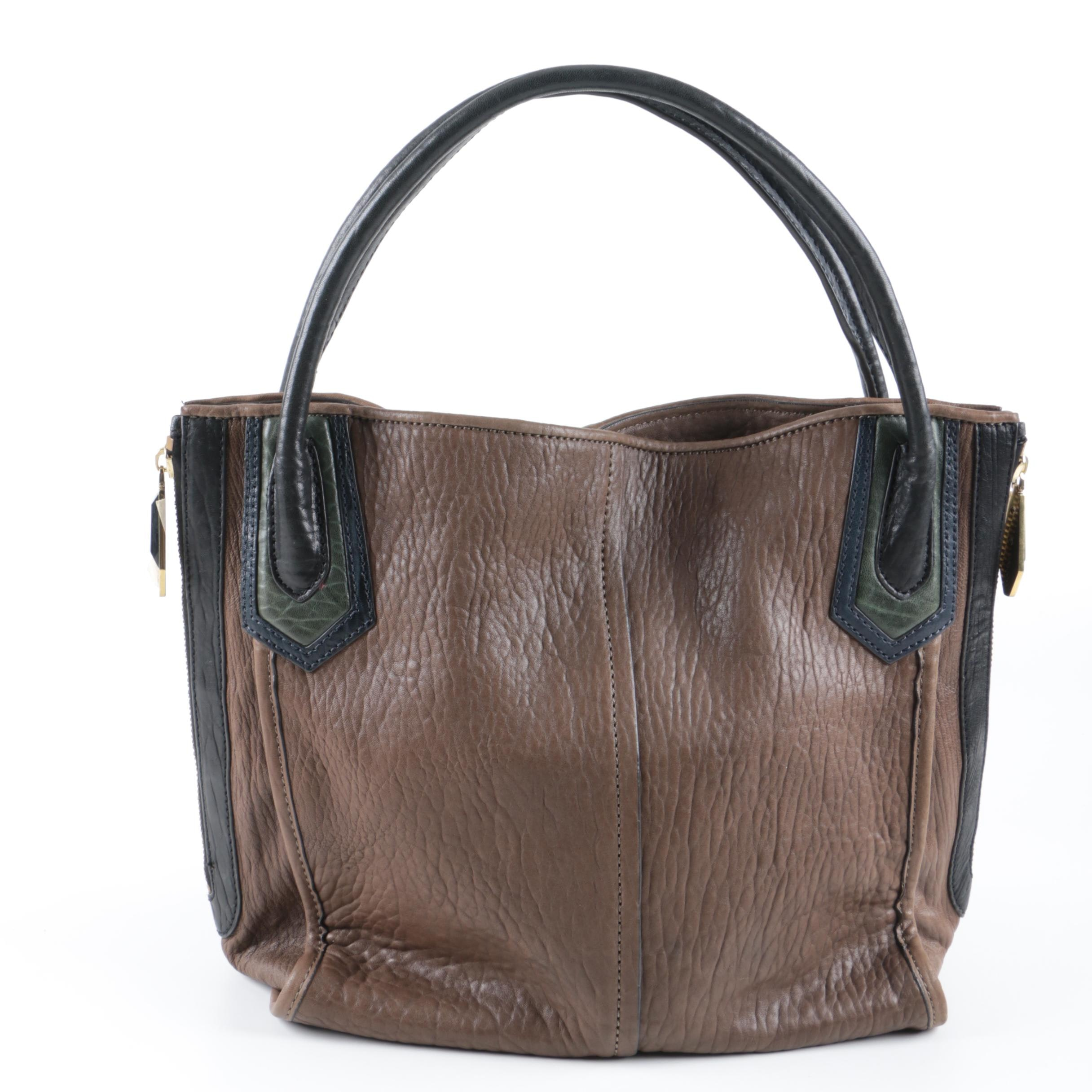 Oryany Textured Leather Tote Bag