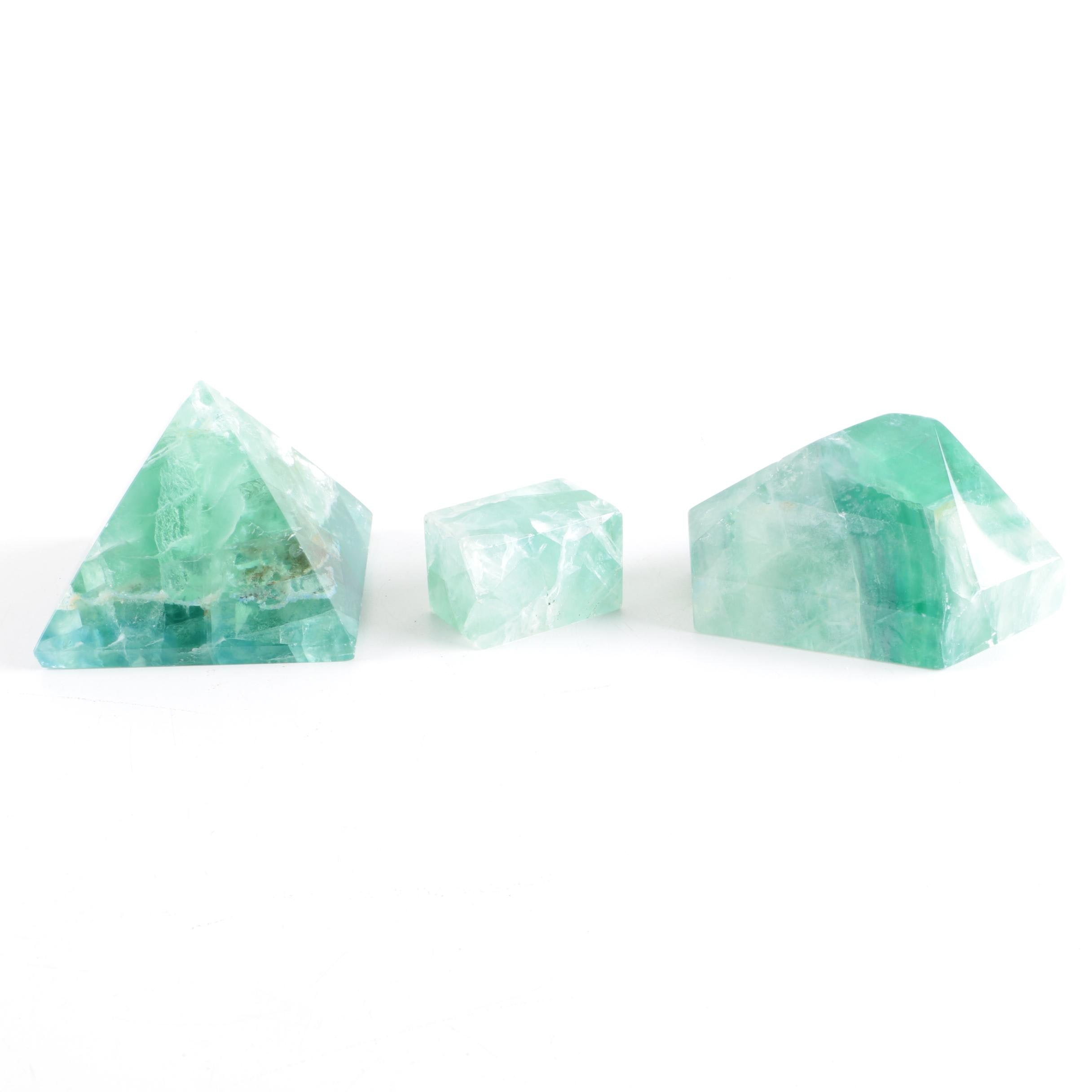 Faceted Fluorite Specimens