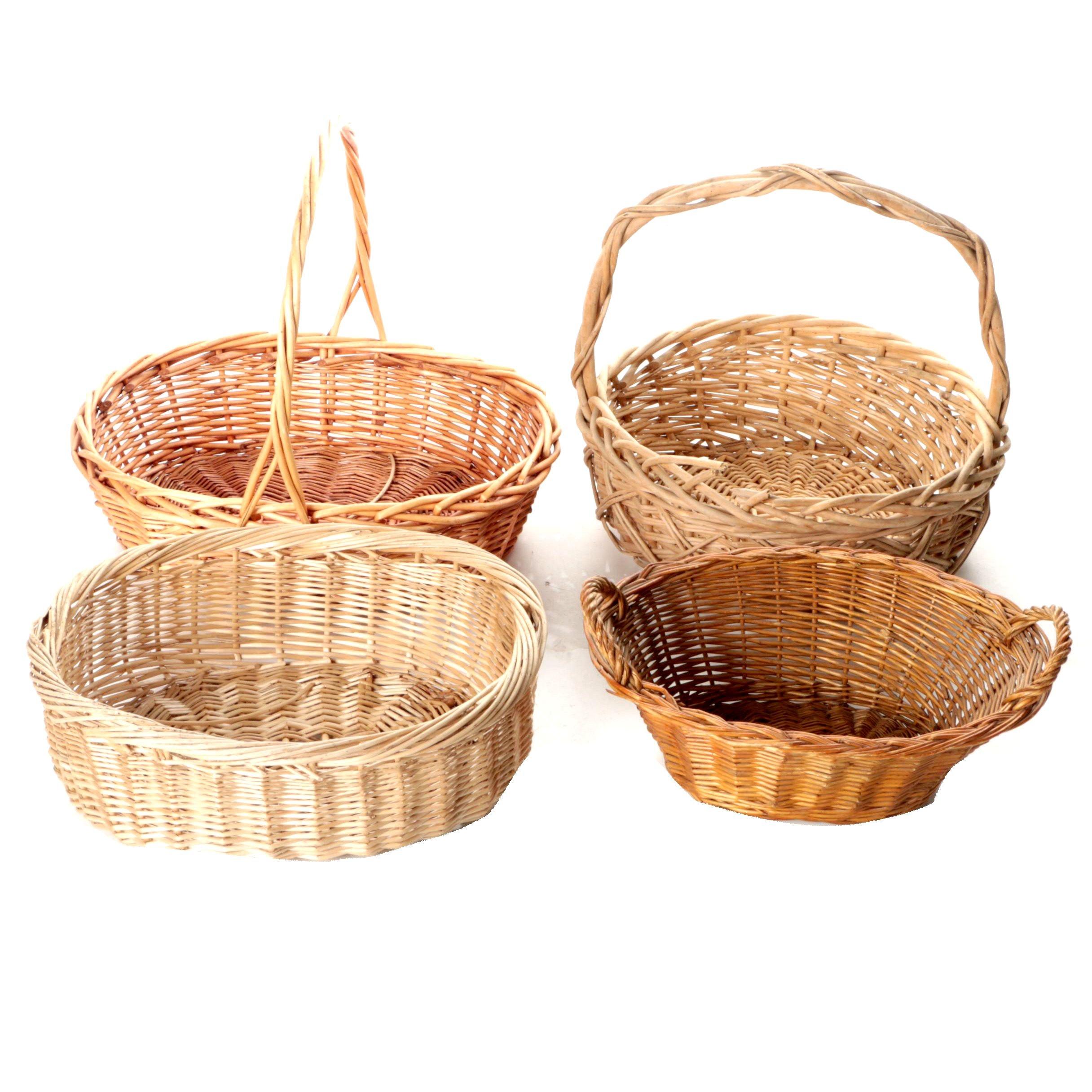 Wicker Gathering Baskets