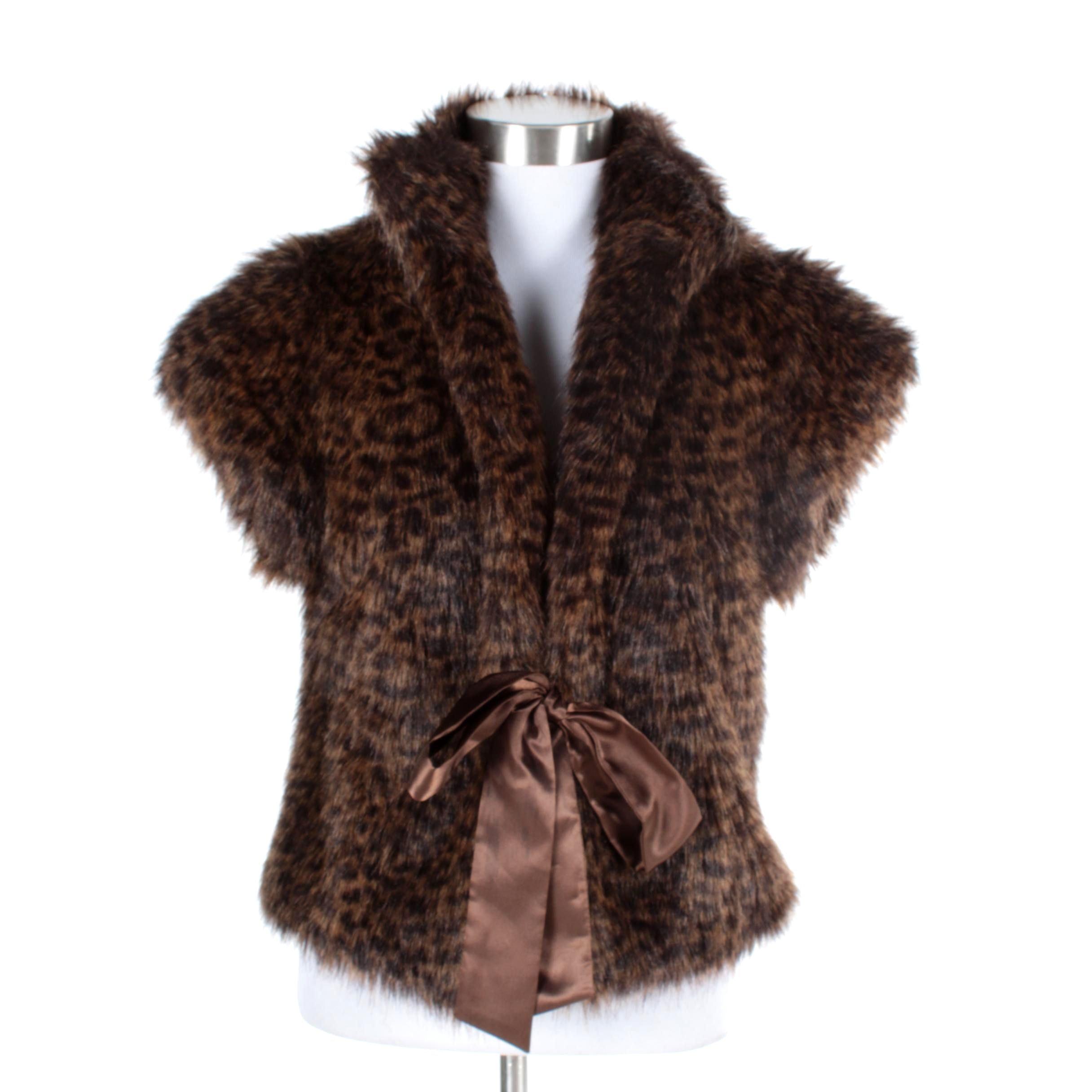 Women's Calvin Klein Leopard Print Faux Fur Vest