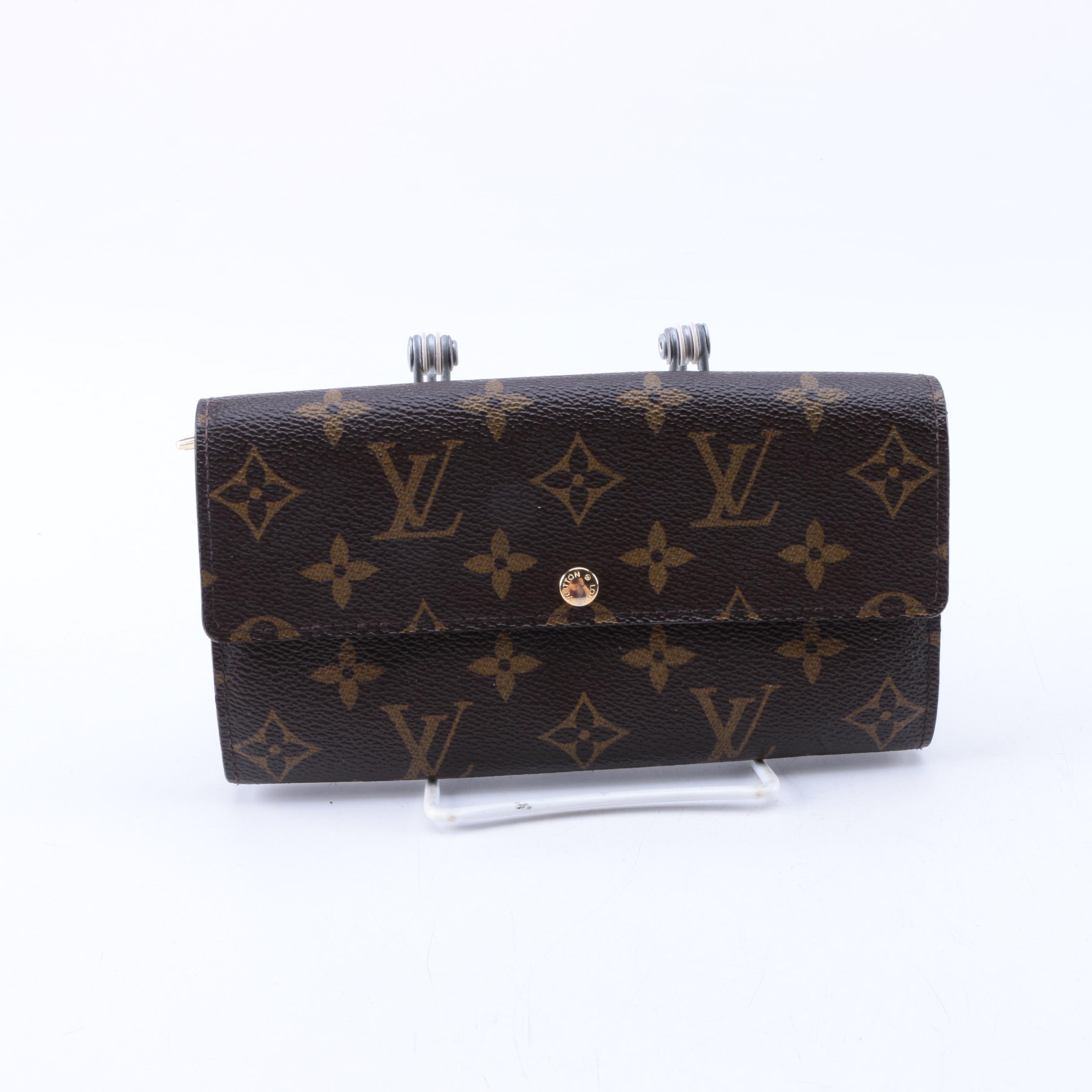 Louis Vuitton Monogram Fleuri Sarah Wallet