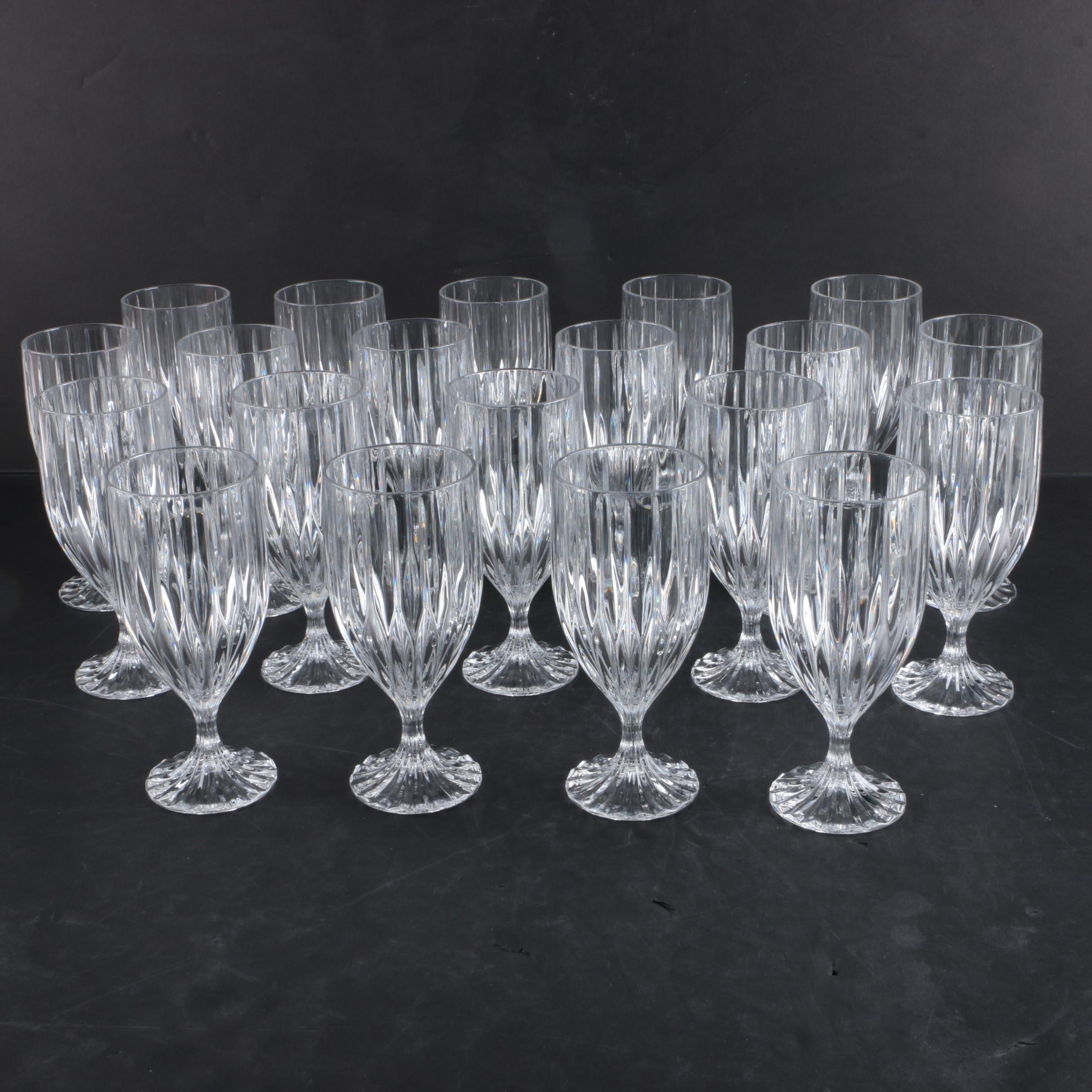 Collection of Twenty Crystal Goblets