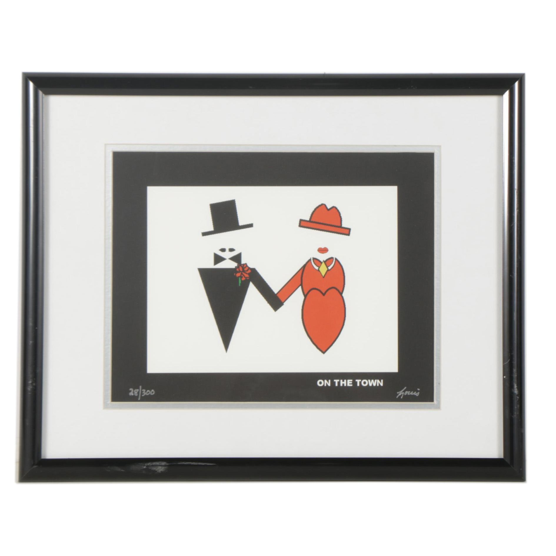 """Louis Limited Edition Giclee """"On the Town"""""""