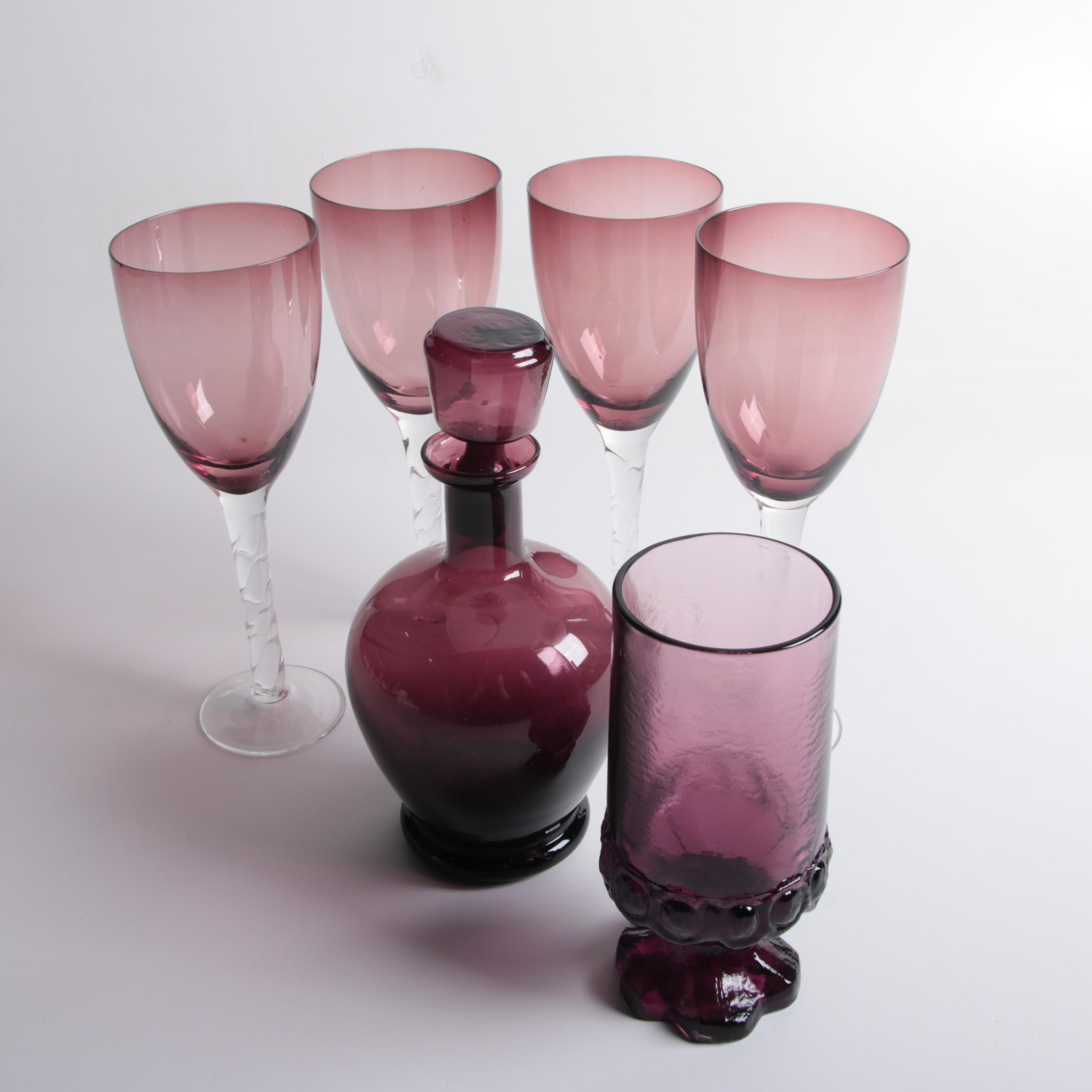 Collection of Purple Barware