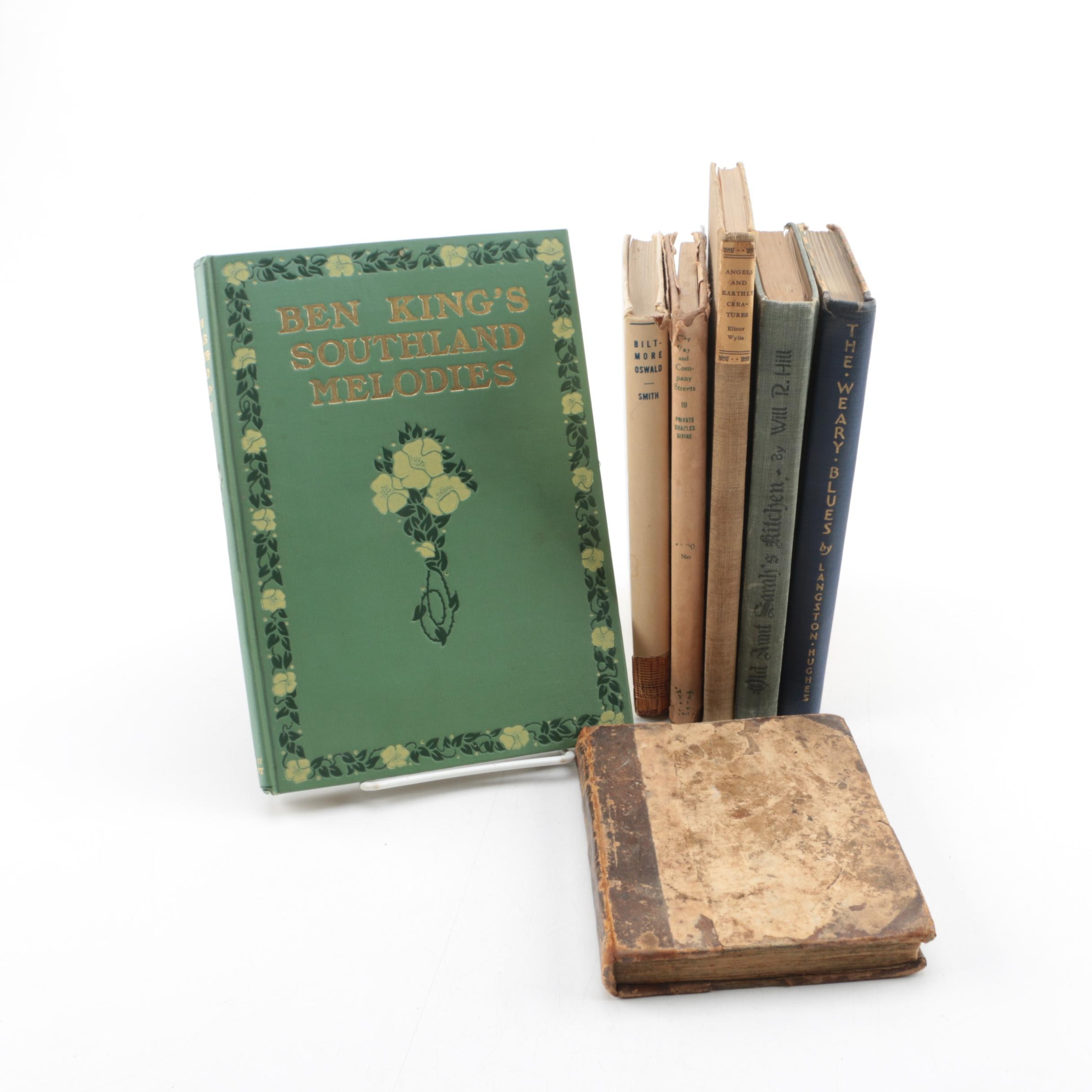 Books Including 1926 Langston Hughes and 1757 Architecture Guide