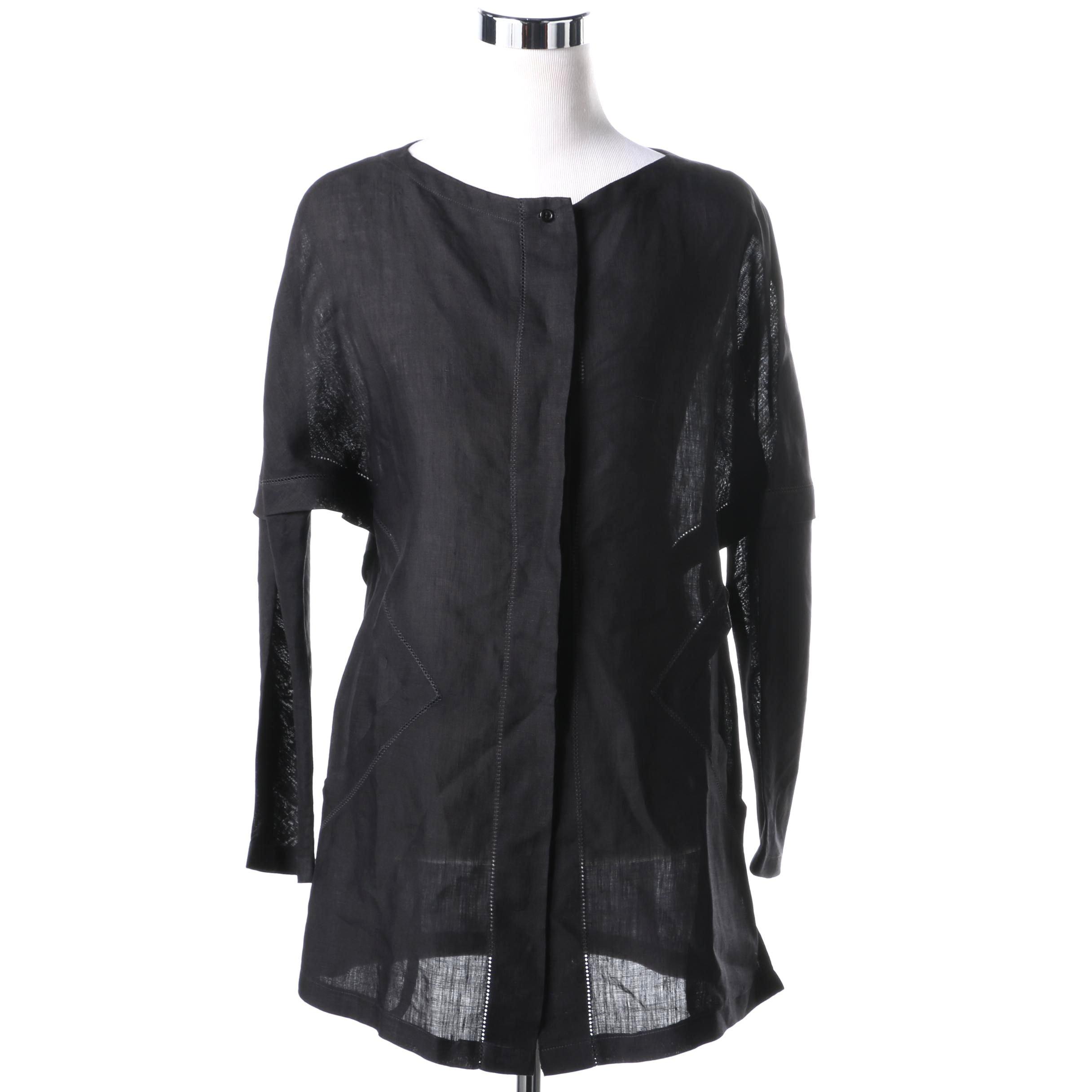 Vintage Collectible Shamask Original Women's Linen Tunic