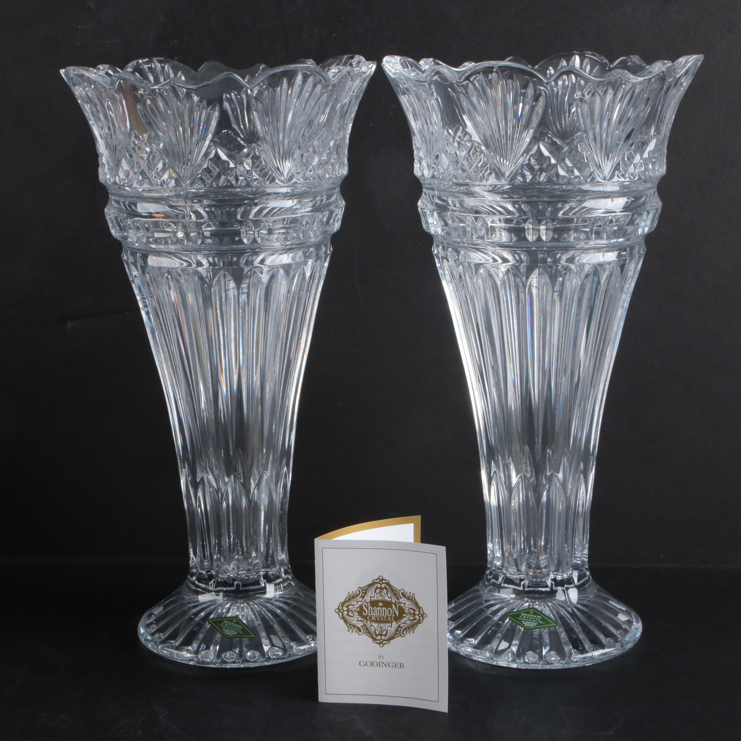 "Shannon ""Princess"" Crystal Vases by Godinger"