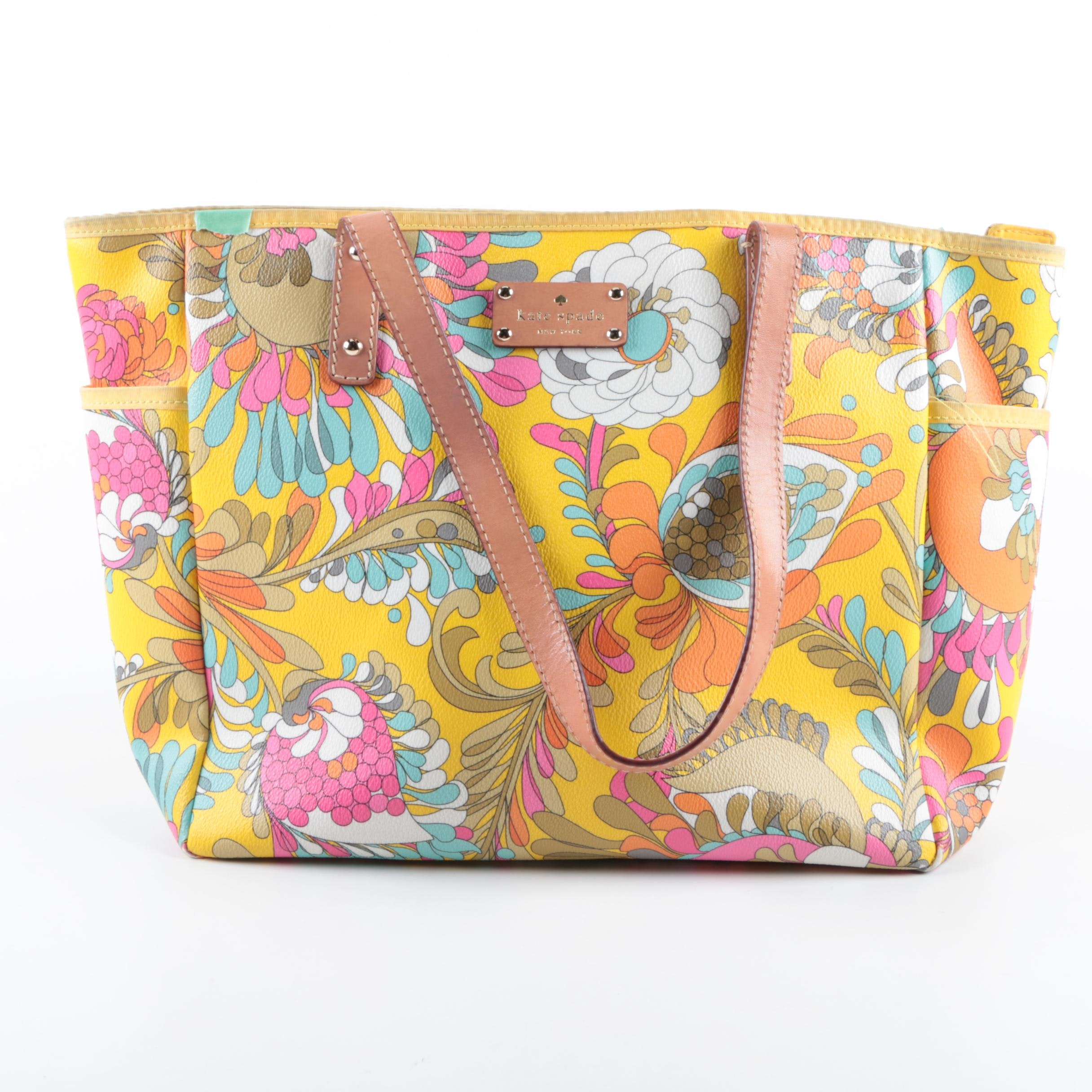 Kate Spade Sydney Paley Paisley Tote Handbag
