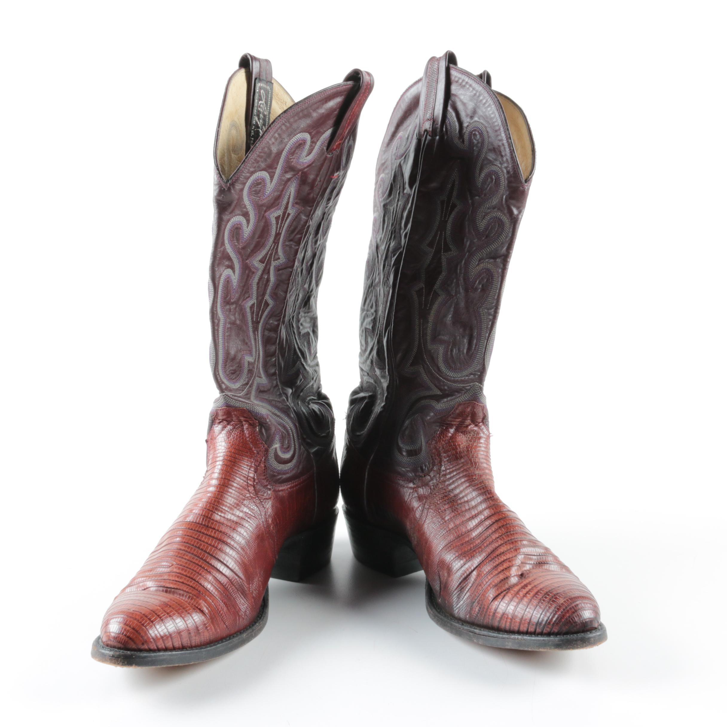 Larry Mahan Reptile Skin Cowboy Boots