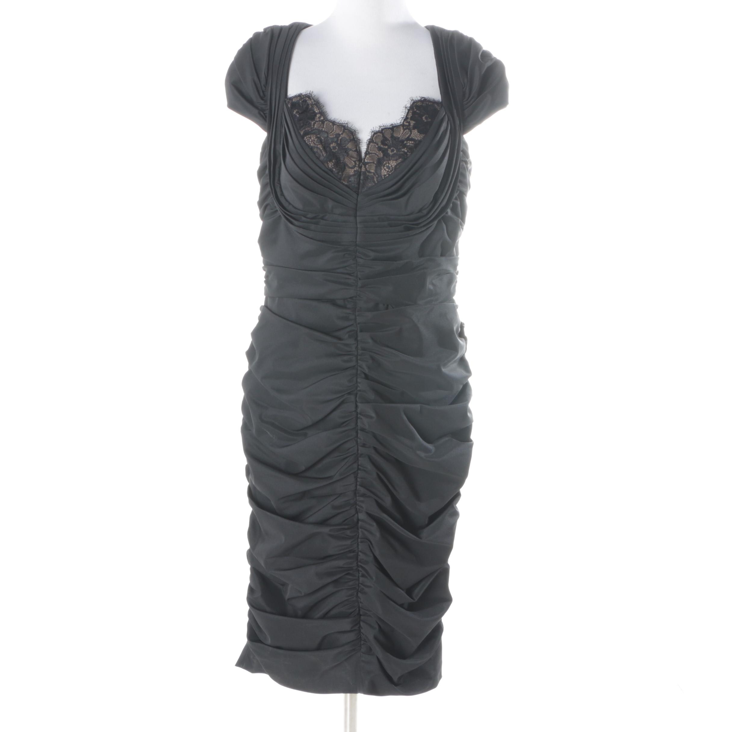 Tadashi Shoji Ruched Cap Sleeve Dress