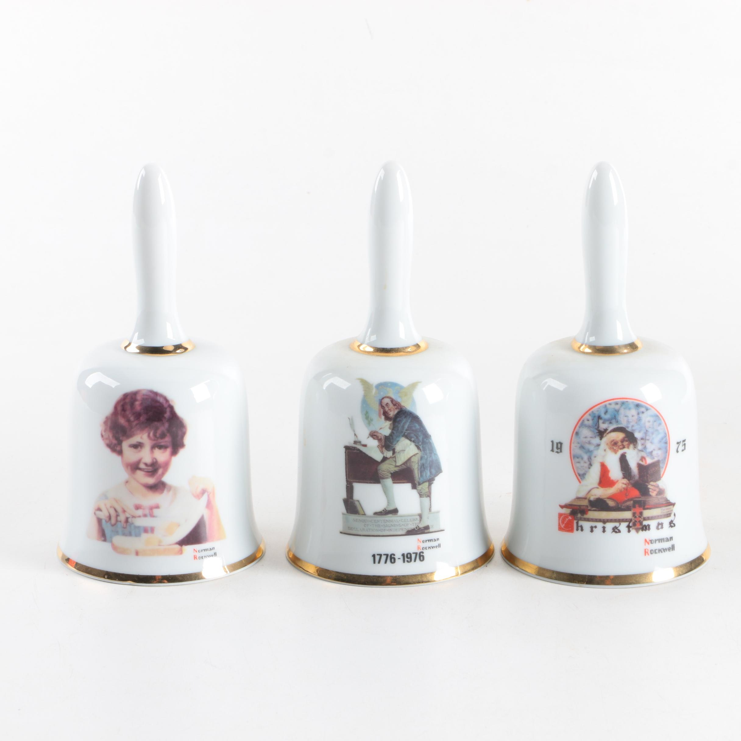 1970s Norman Rockwell Limited Edition Bells