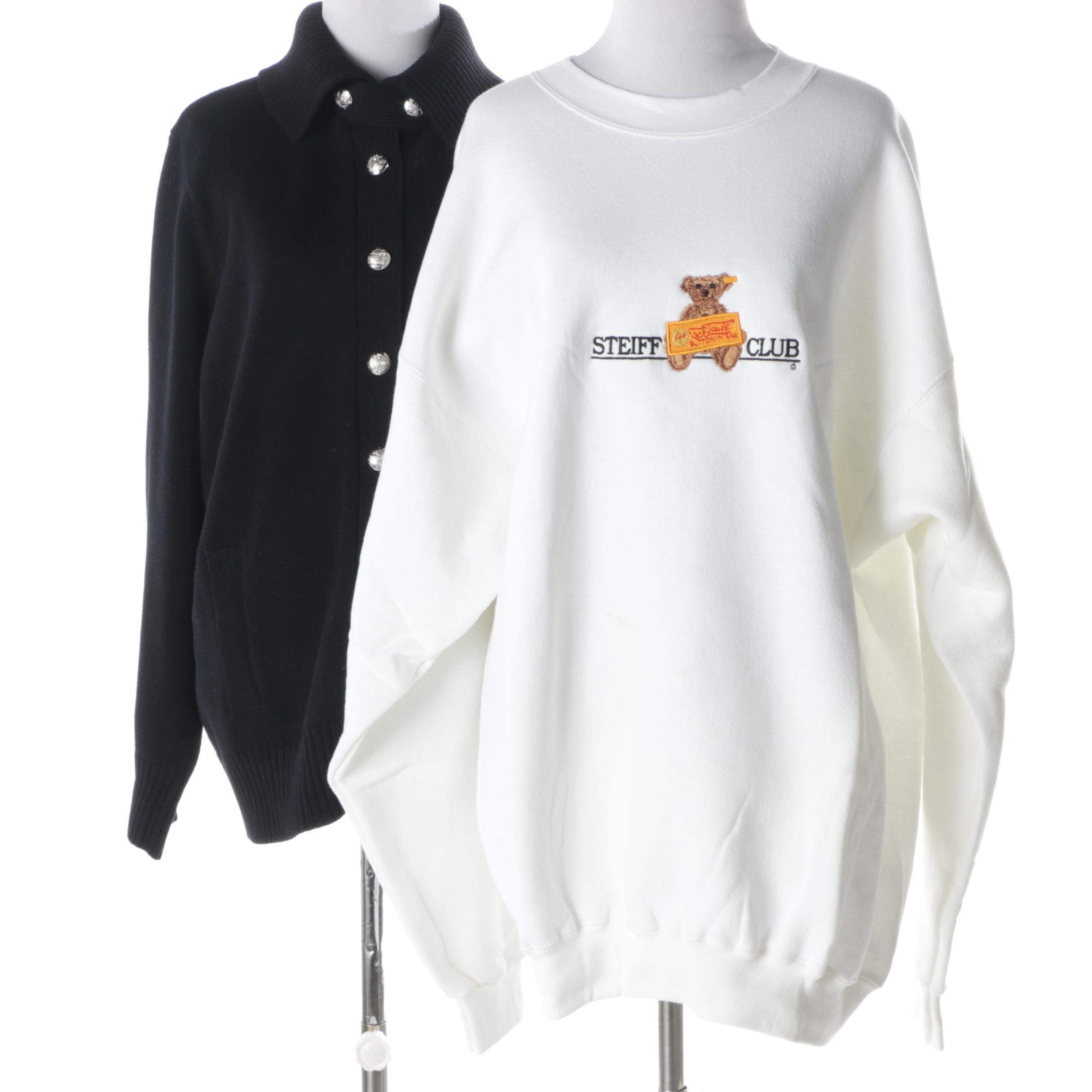 Steiff Club Sweatshirt and LAUREN Ralph Lauren Knit Cardigan