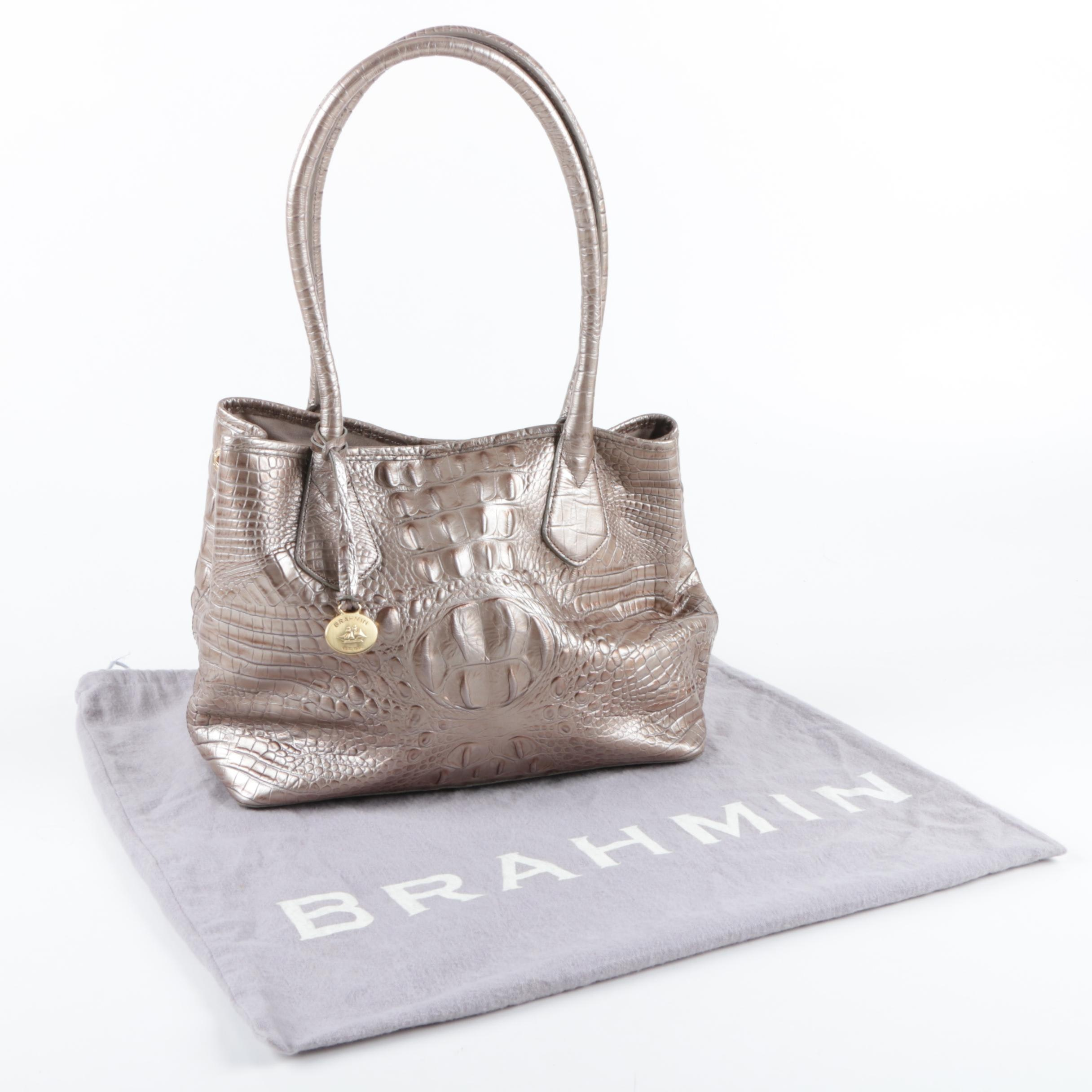 Brahmin Hornback Embossed Leather Handbag
