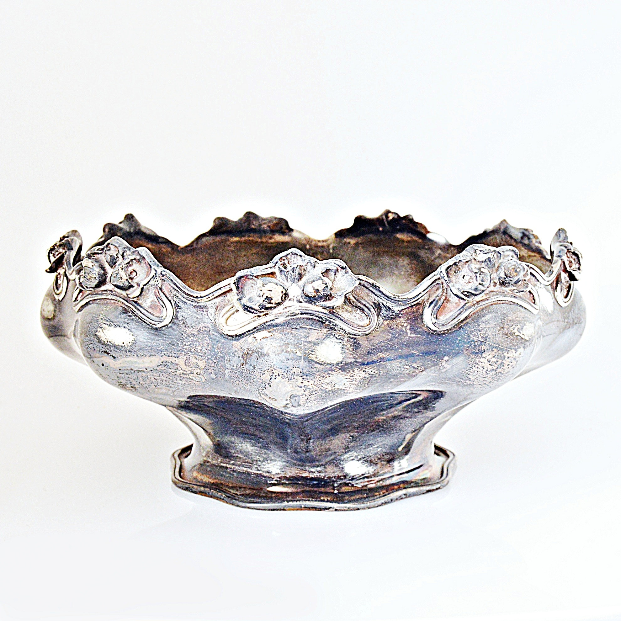 Art Nouveau Style Silver-Plated Centerpiece Bowl