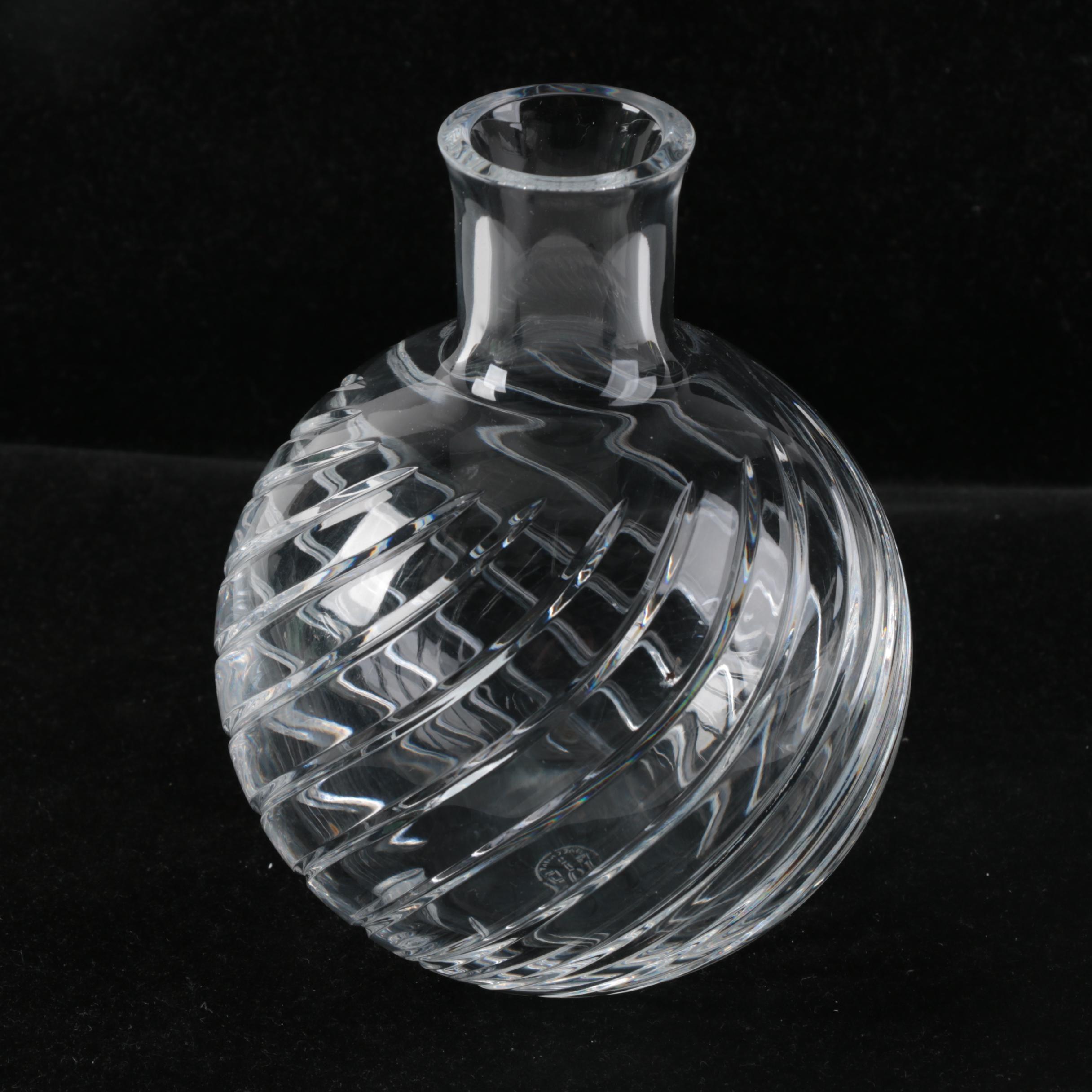 "Baccarat Crystal ""Cyclades"" Bud Vase"