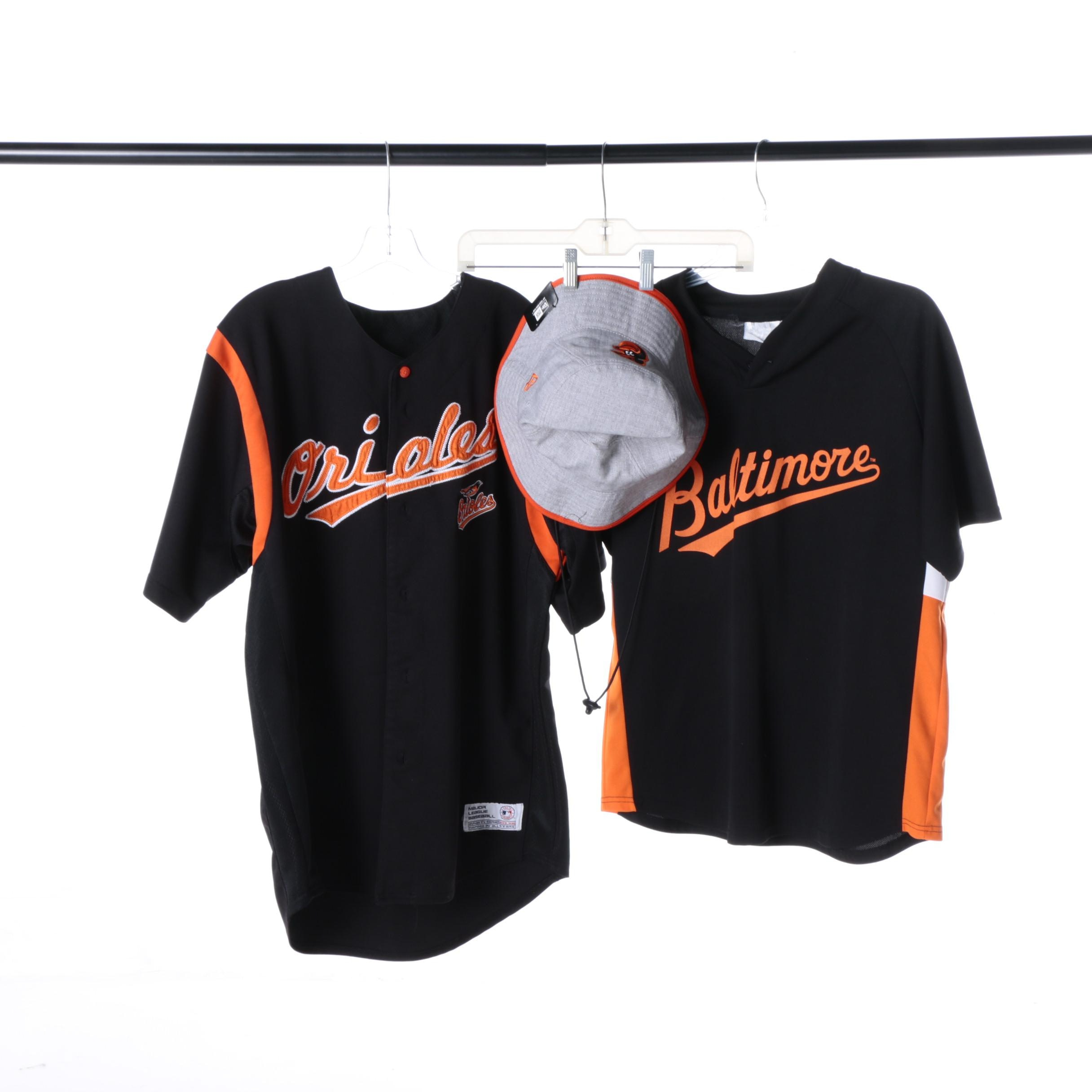 Men's Baltimore Orioles Shirts and Bucket Hat