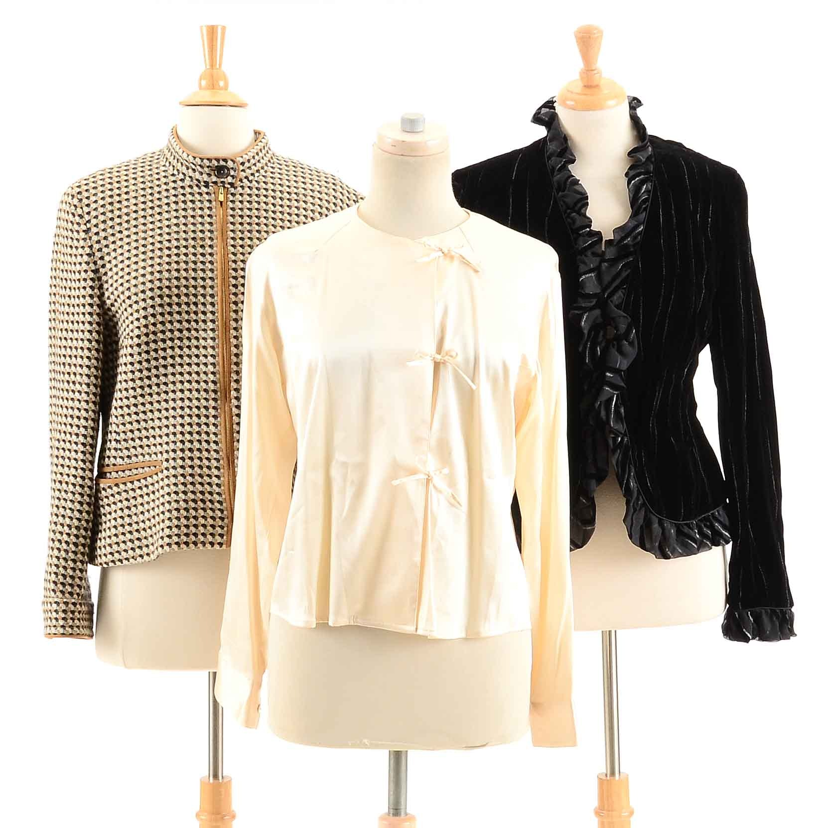 Women's Féraud Jackets and Silk Blouse