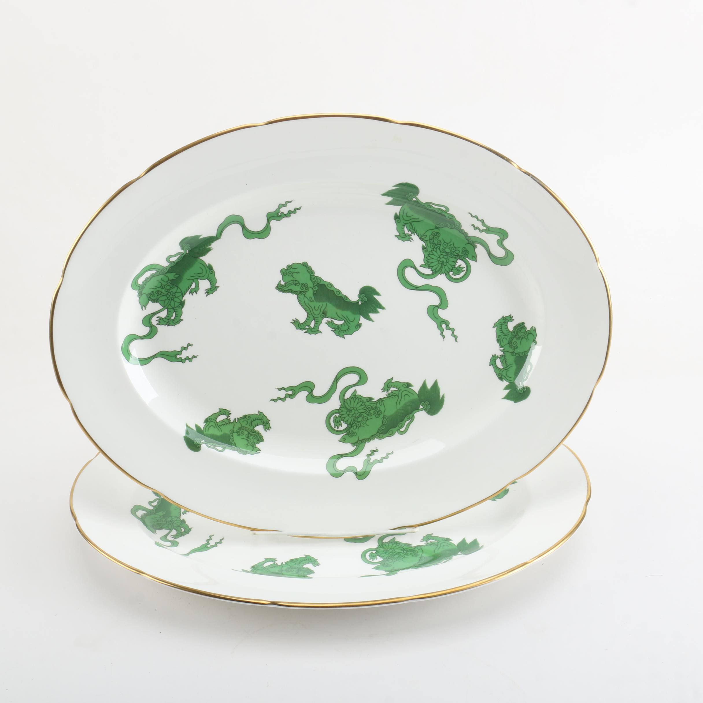 "Wedgwood ""Chinese Tigers"" Serving Platters"