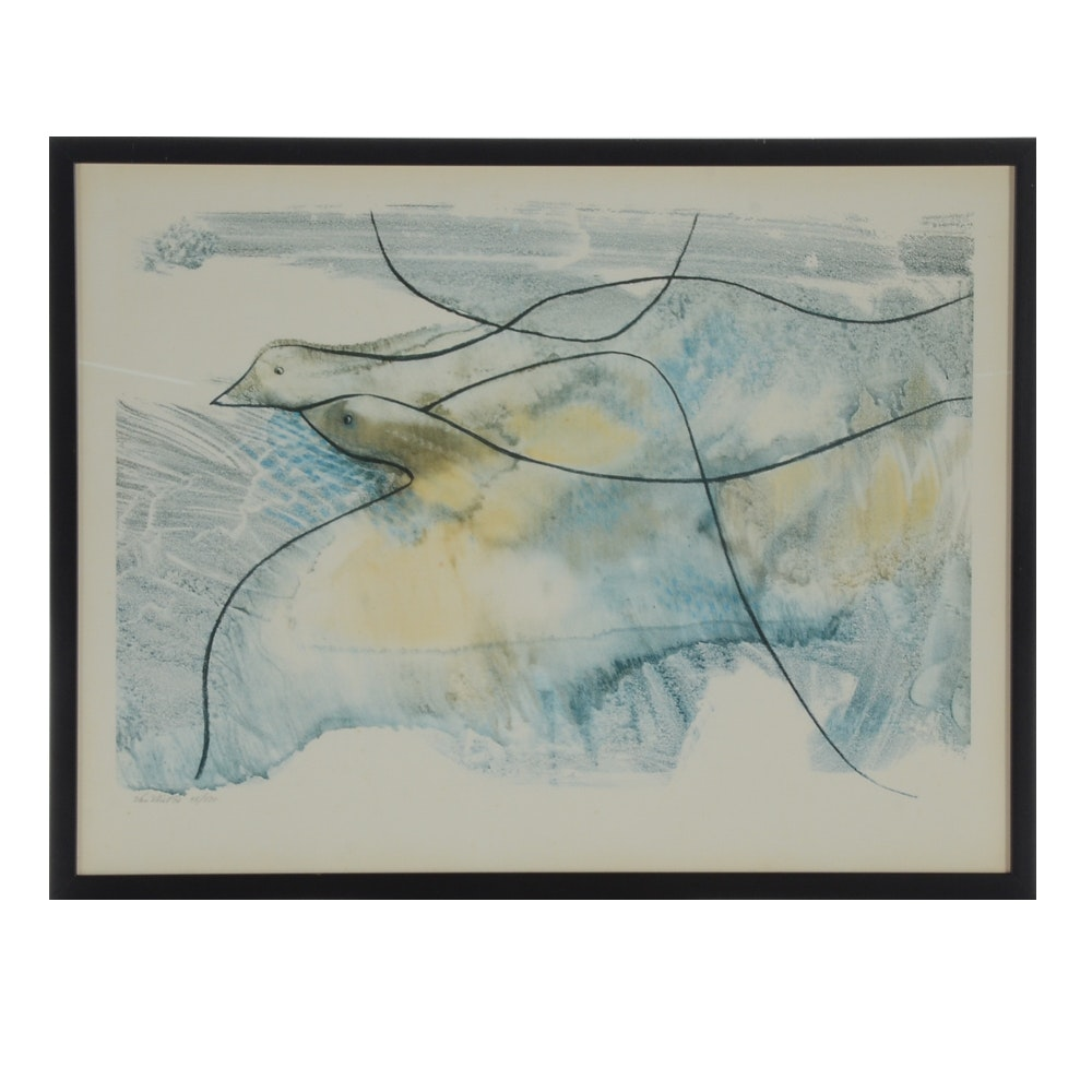 Don Van Vliet Limited Edition Offset Lithograph of Birds