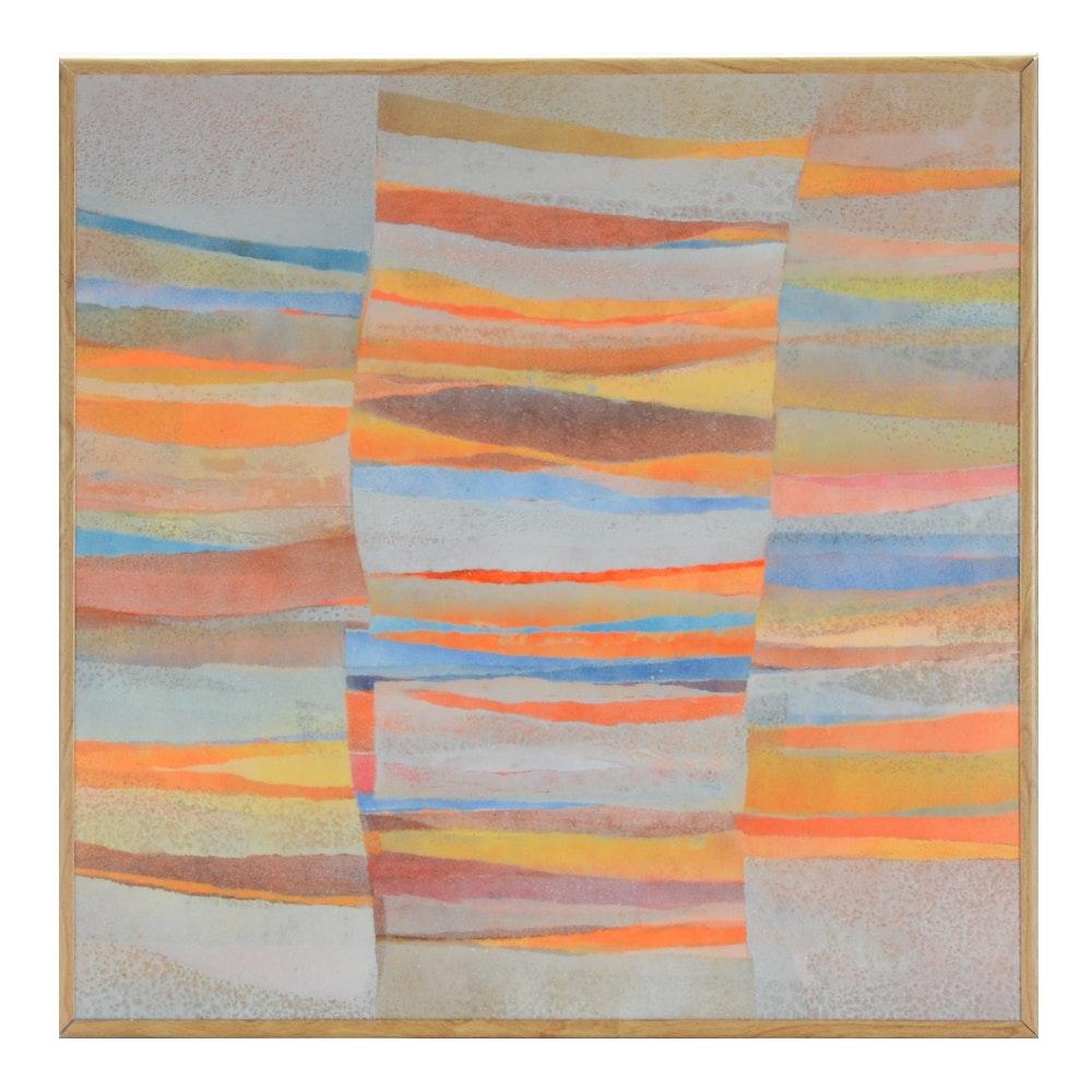 Marga Ludwig Abstract Mixed Media Painting