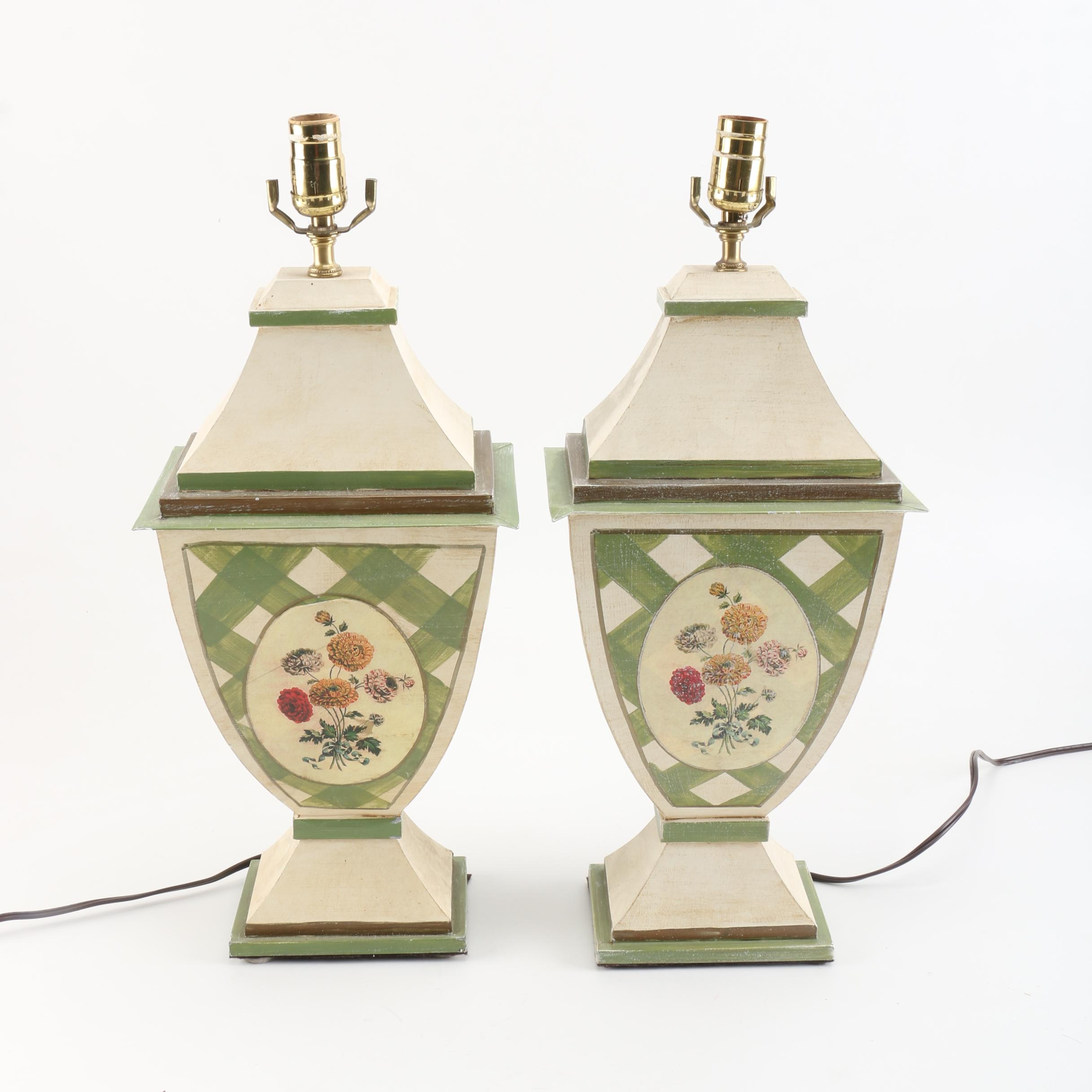 Pair of French Country Style Table Lamps