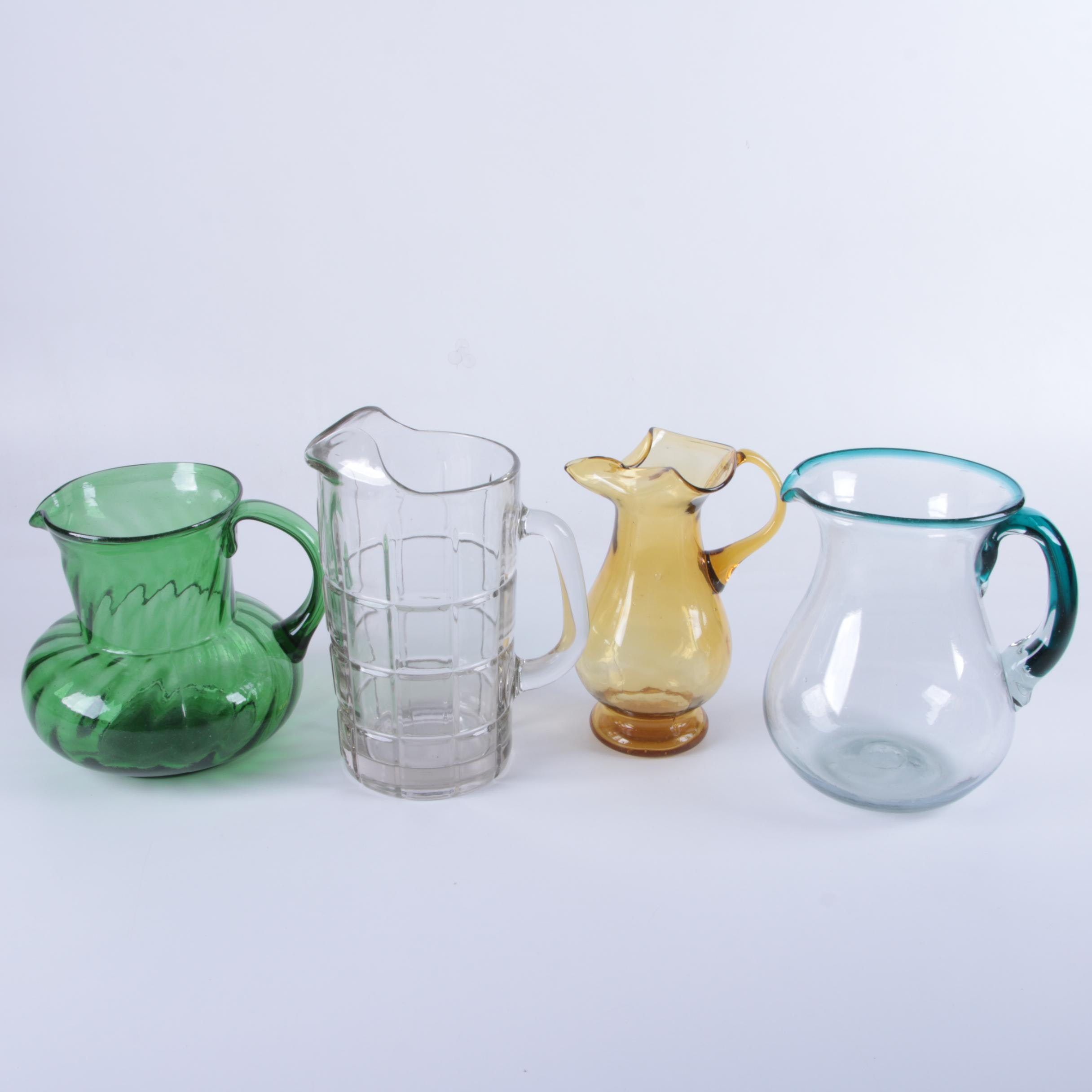Vintage Glass Pitchers
