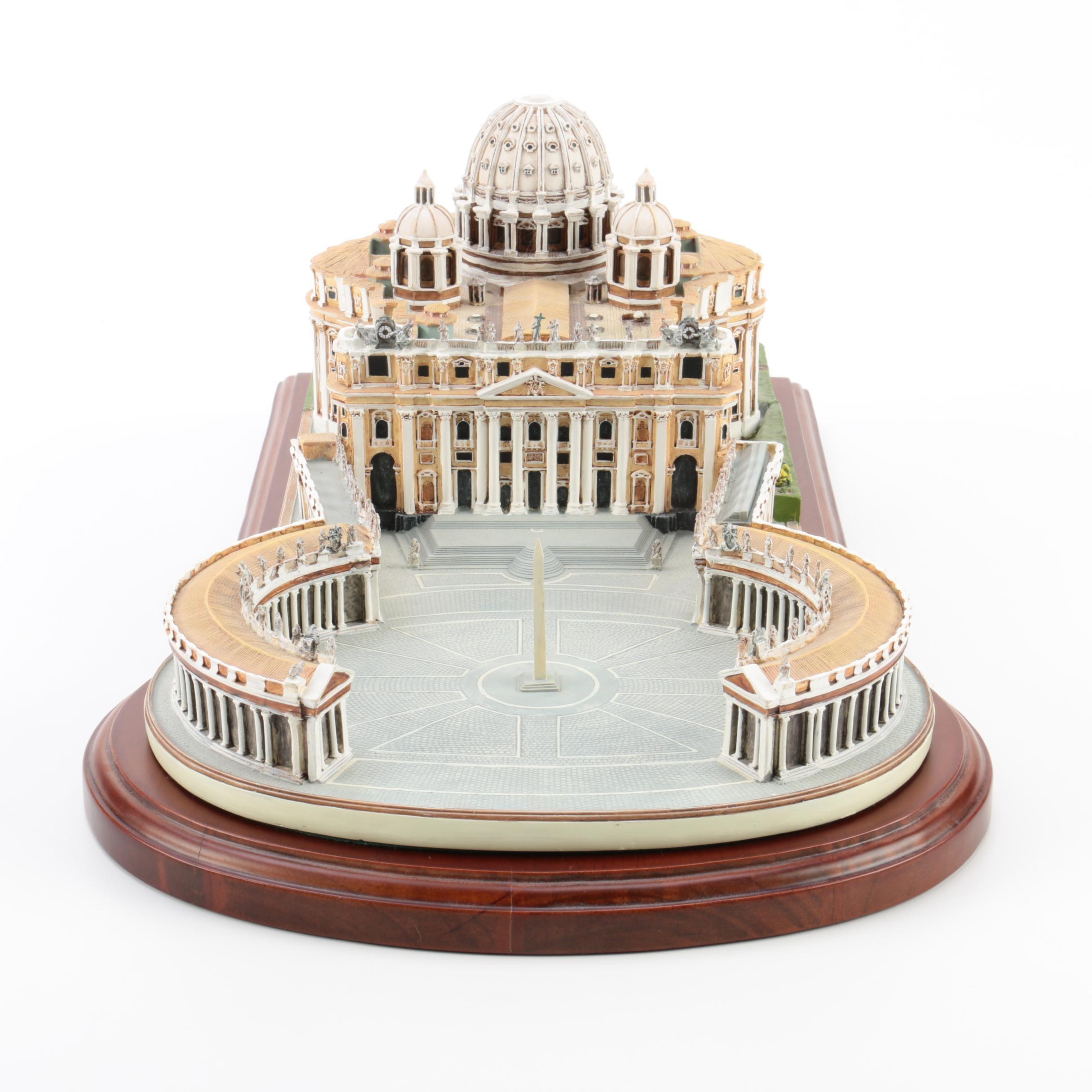 "Danbury Mint ""The Vatican"" Replica with Wood Display Base"