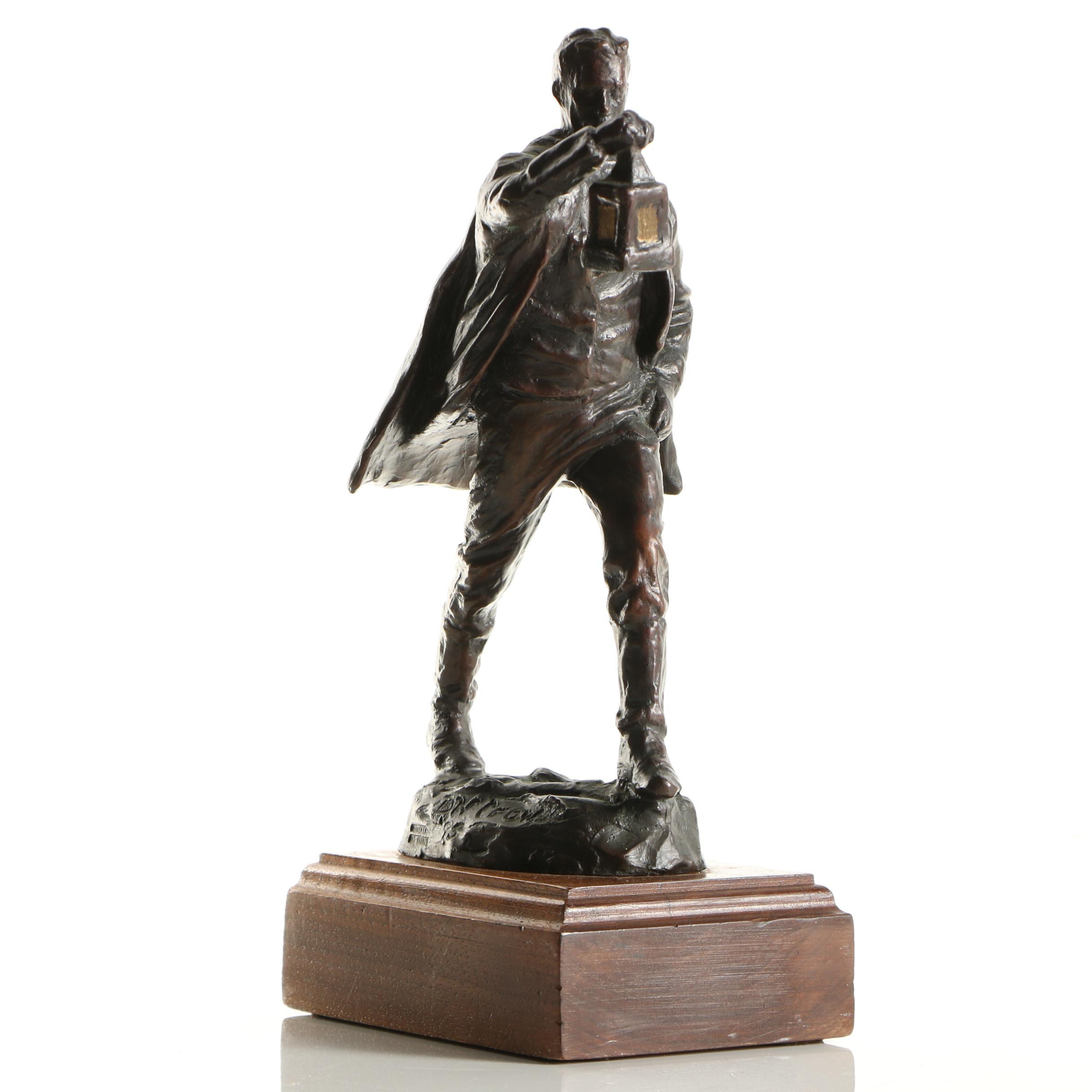 Cast Copper Sculpture After D. W. Crow