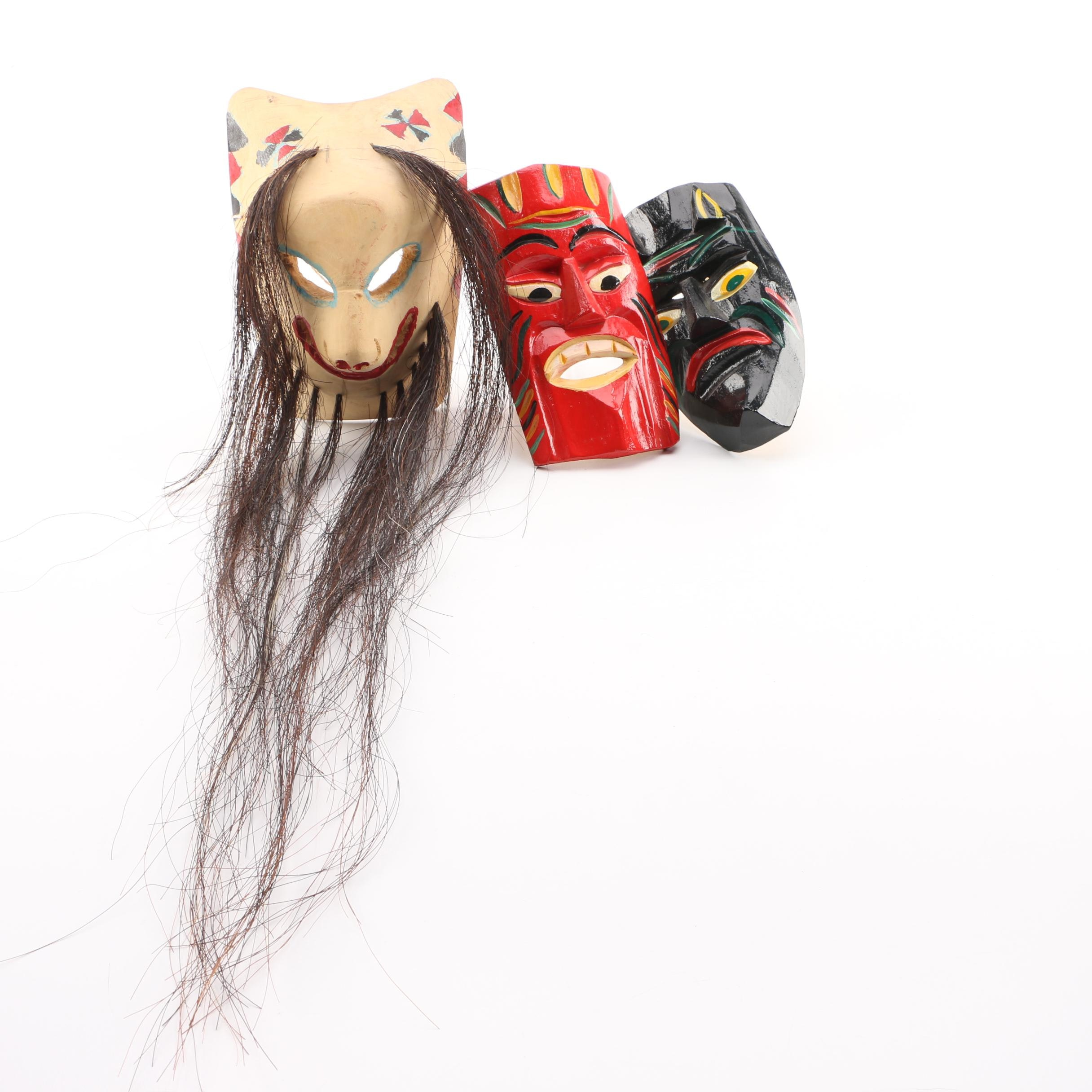 Hand Painted Asian Inspired Masks