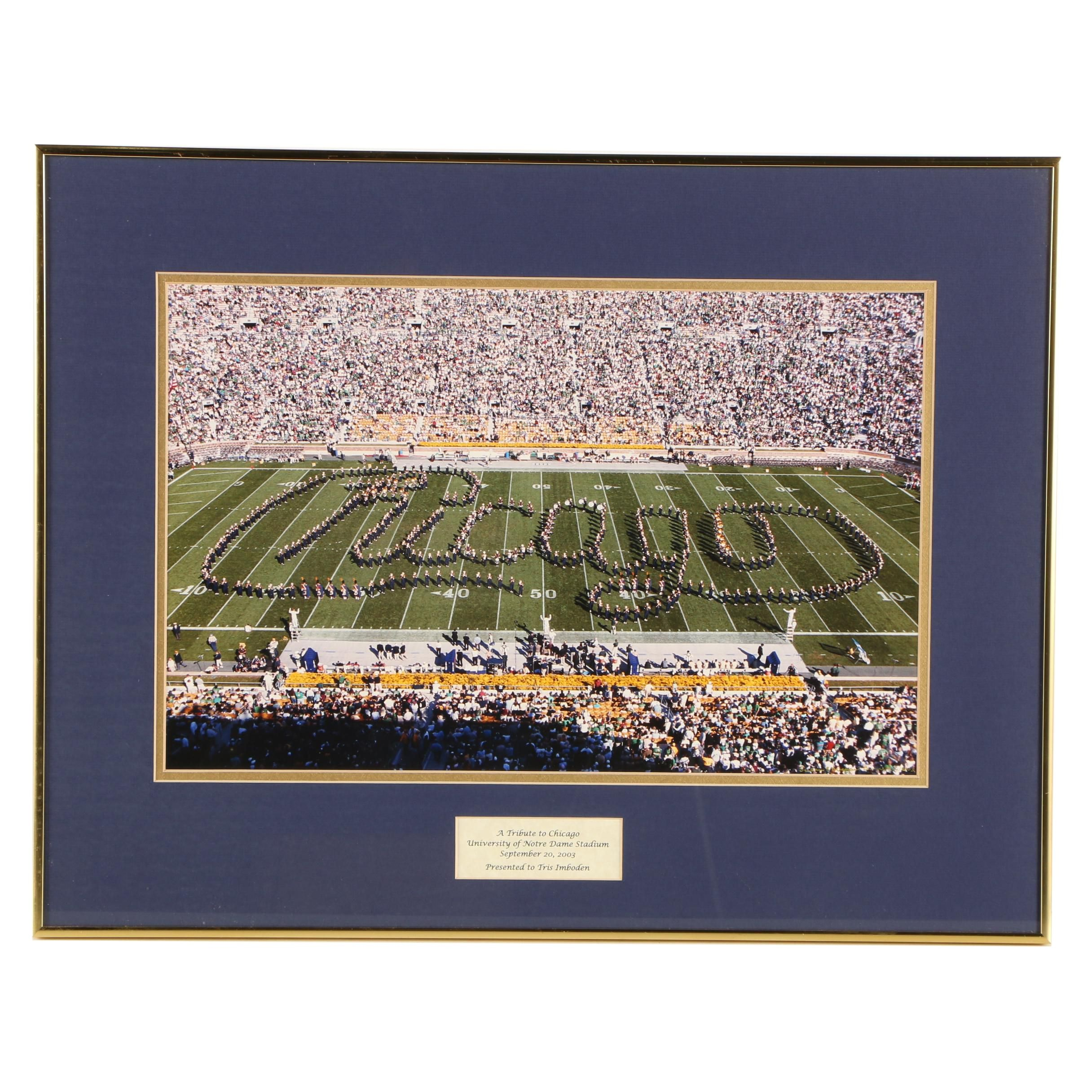 Giclee Print on Paper After Photograph of Notre Dame Band