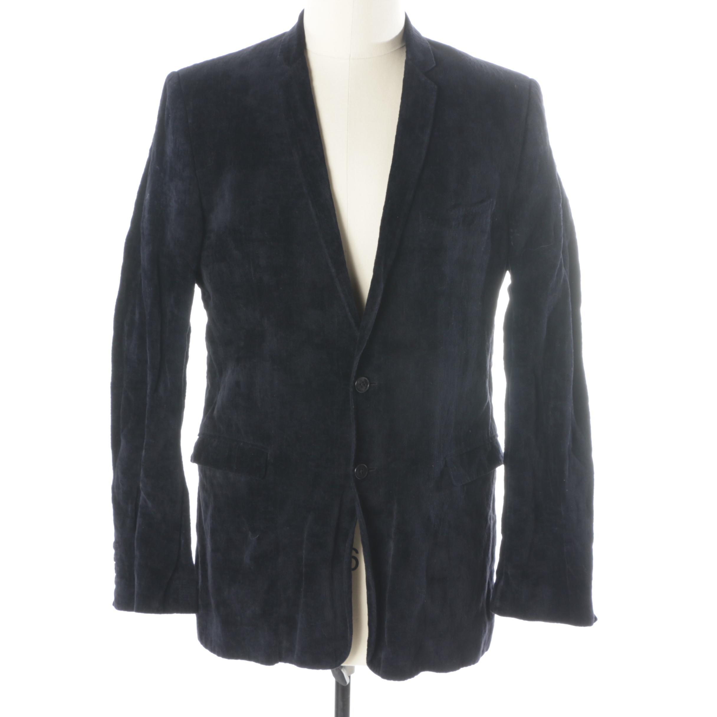 Men's Dolce & Gabbana Black Velvet Sport Coat