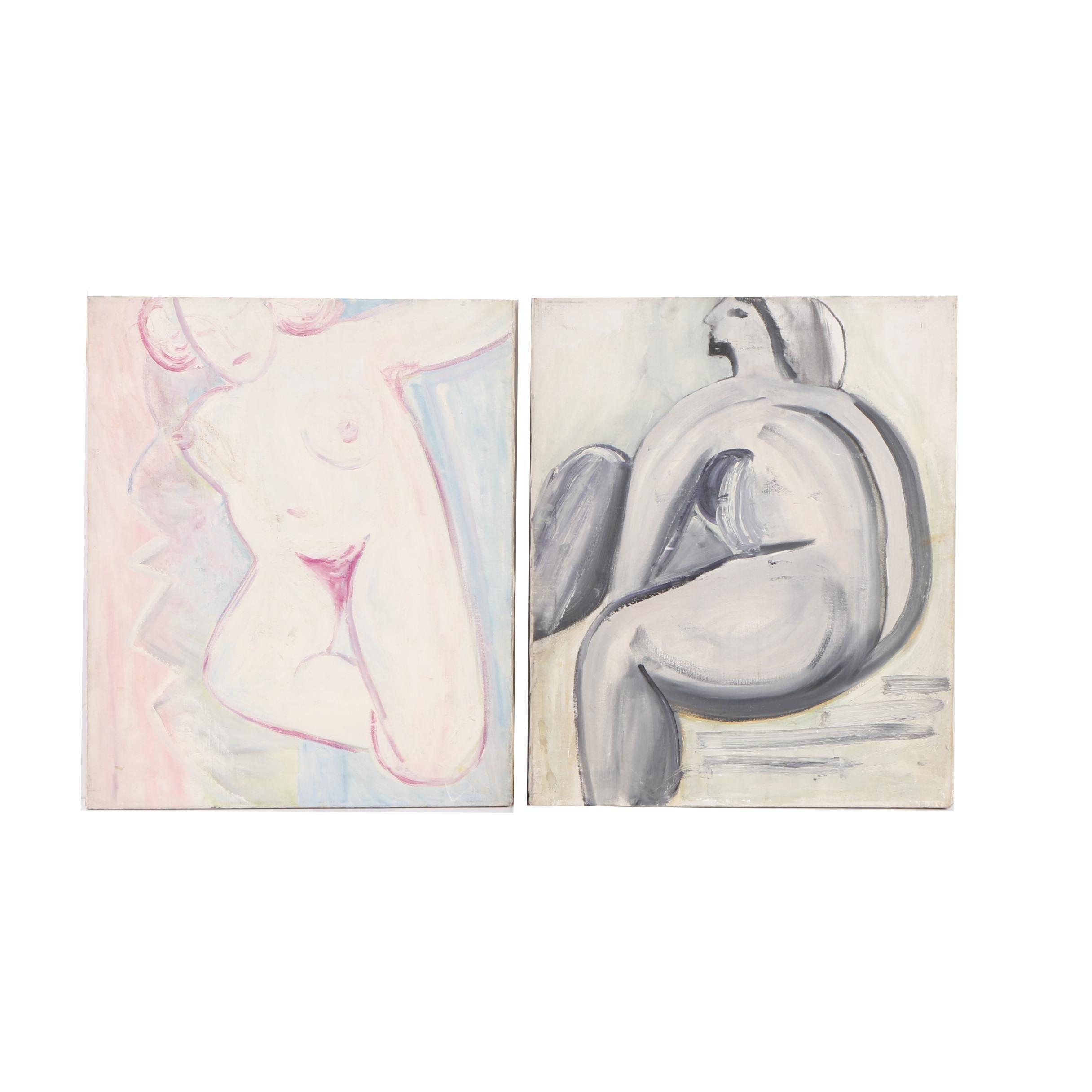 Oil Paintings of Nude Figures