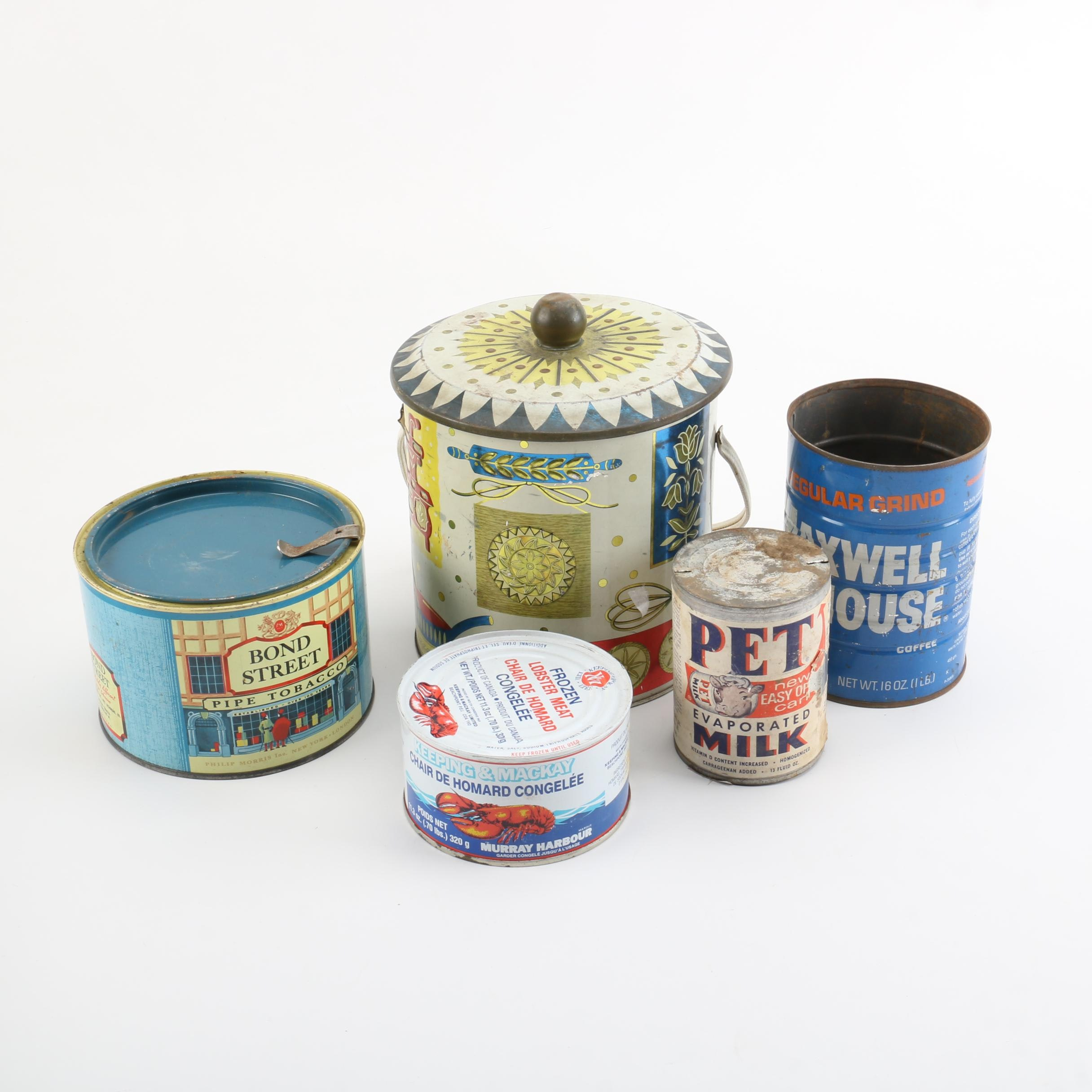 Vintage Biscuit Barrel and Consumables Tins
