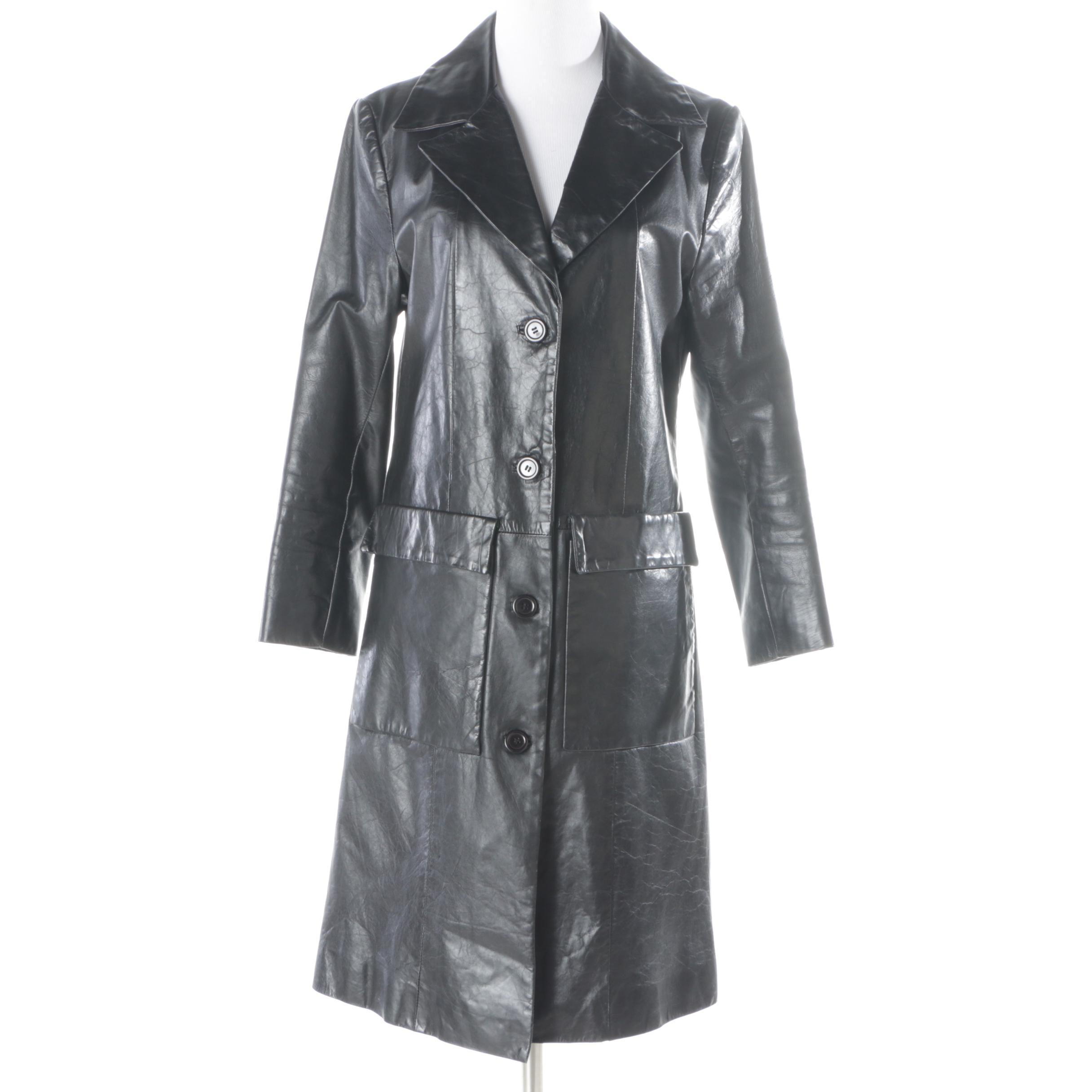 Women's Pelle Studio Wilsons Black Leather Coat