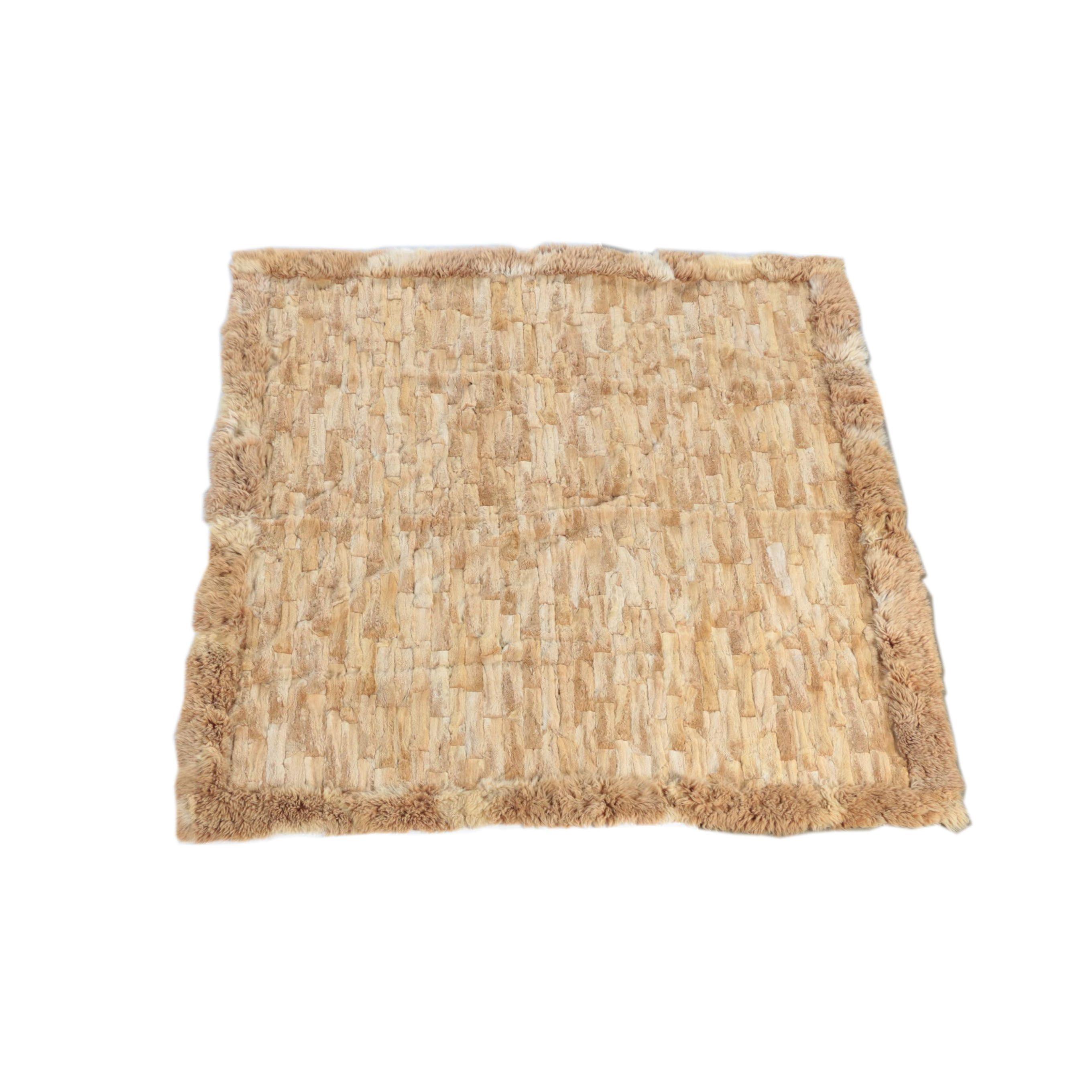 Alpaca Fur Area Rug/Coverlet