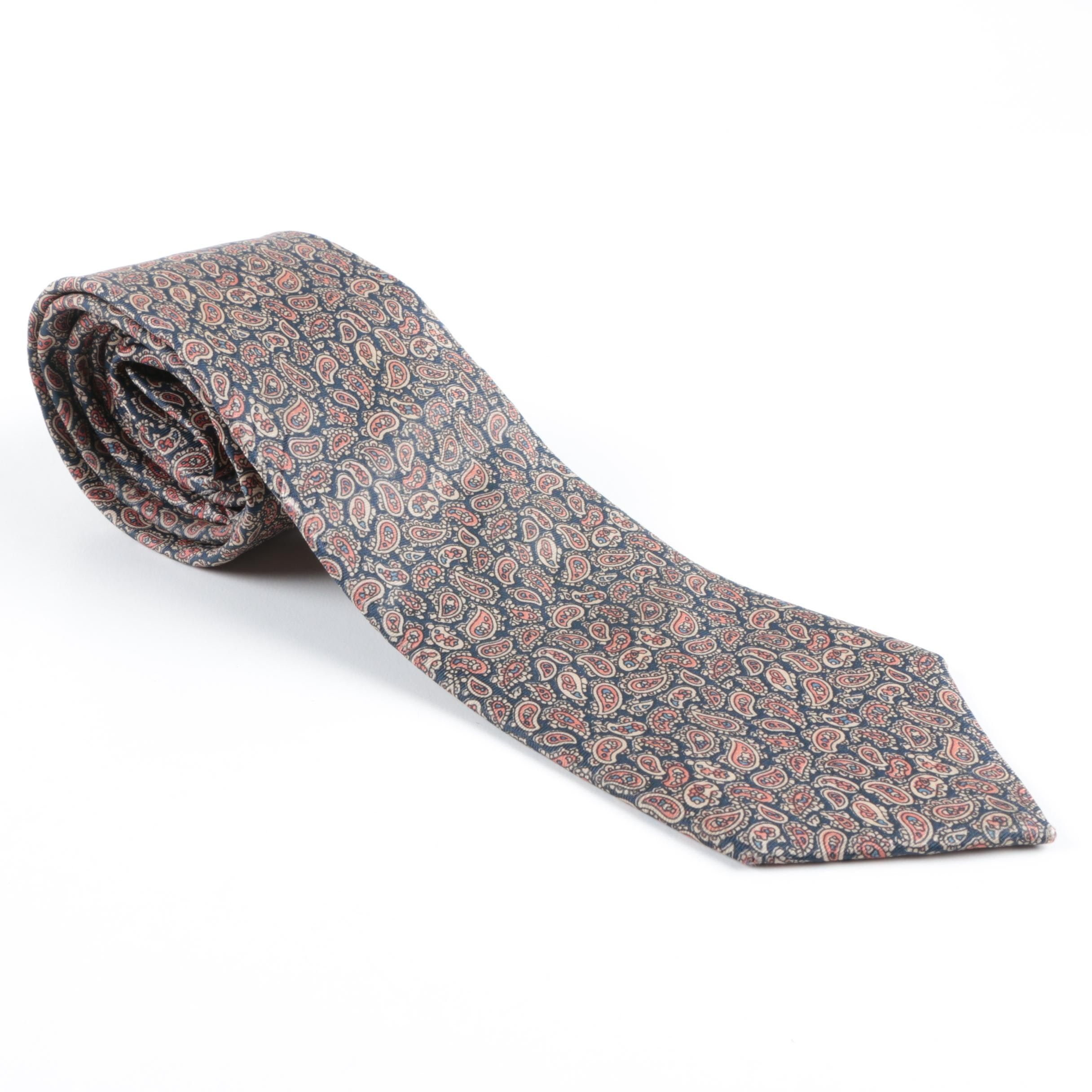 Yves Saint Laurent Silk Paisley Tie