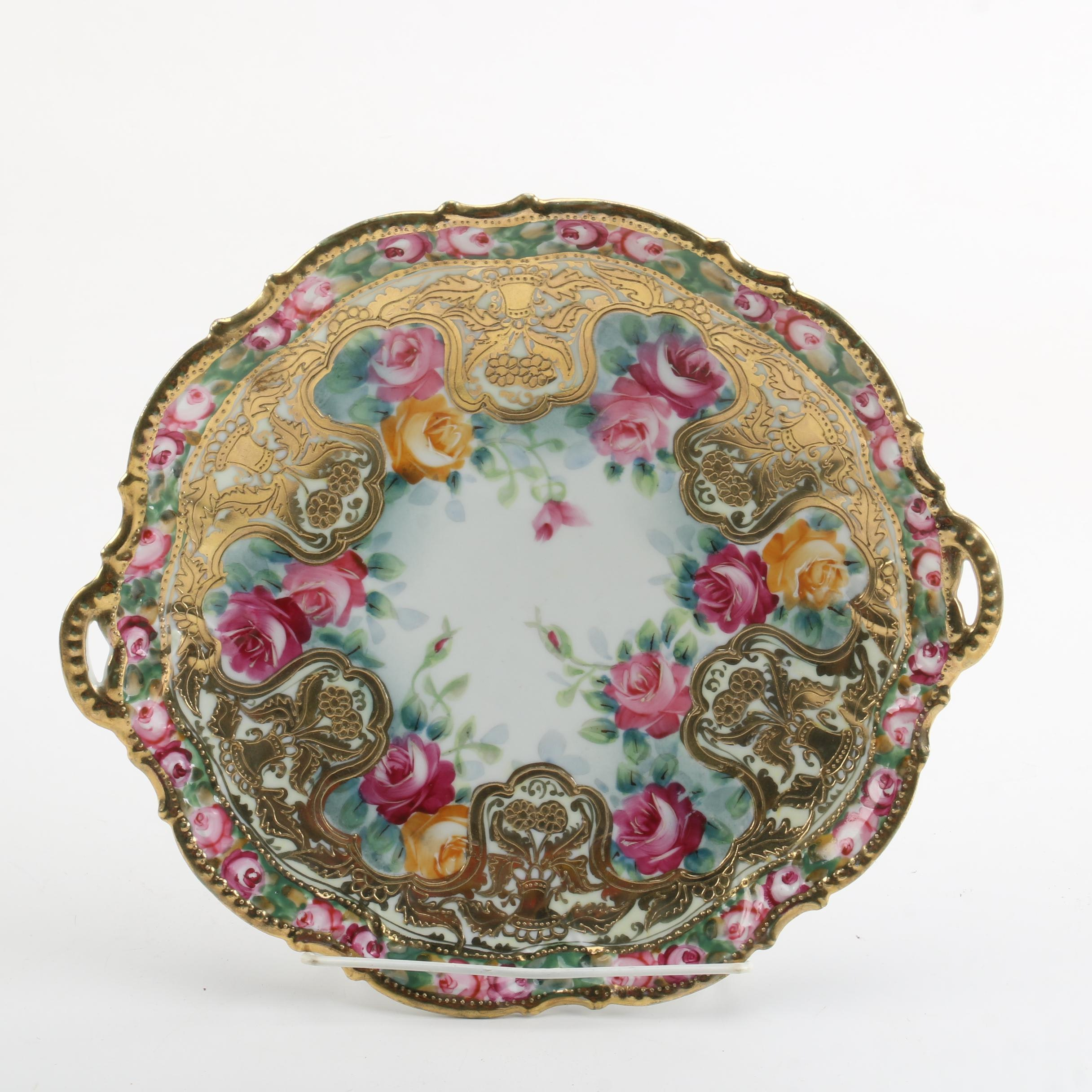 Early 20th Century Hand-painted Nippon Porcelain Platter