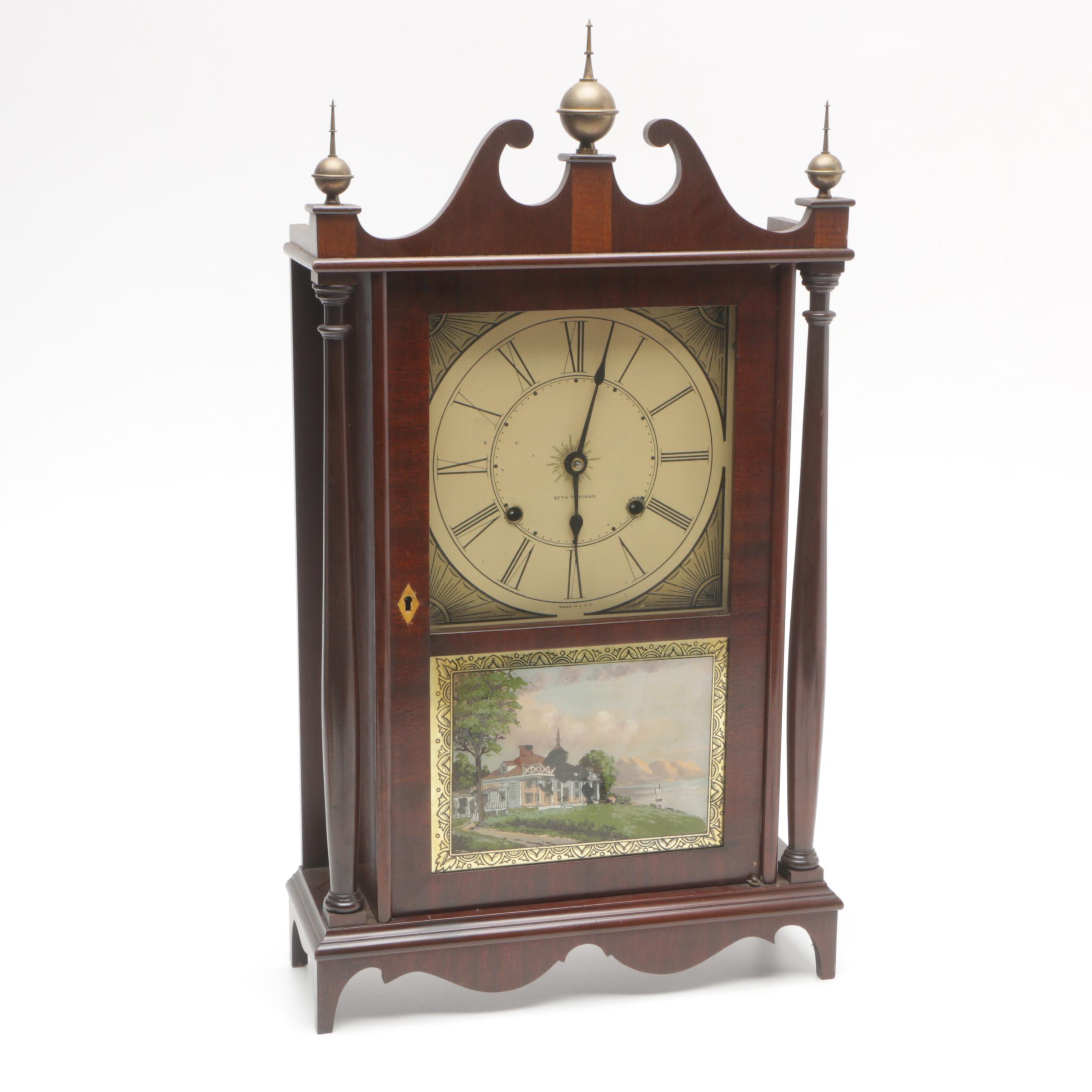 Seth Thomas Pillar and Scroll Mantel Clock