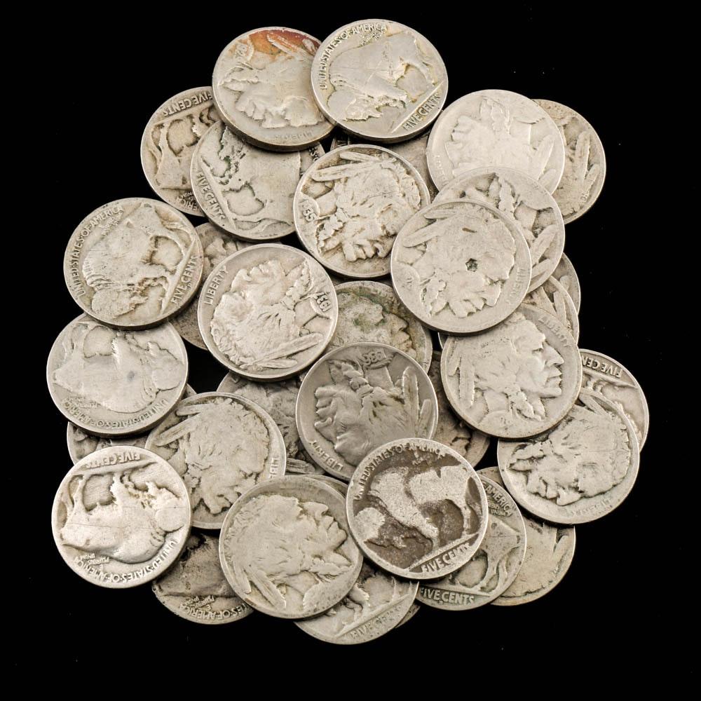 Thirty Five Buffalo Nickels