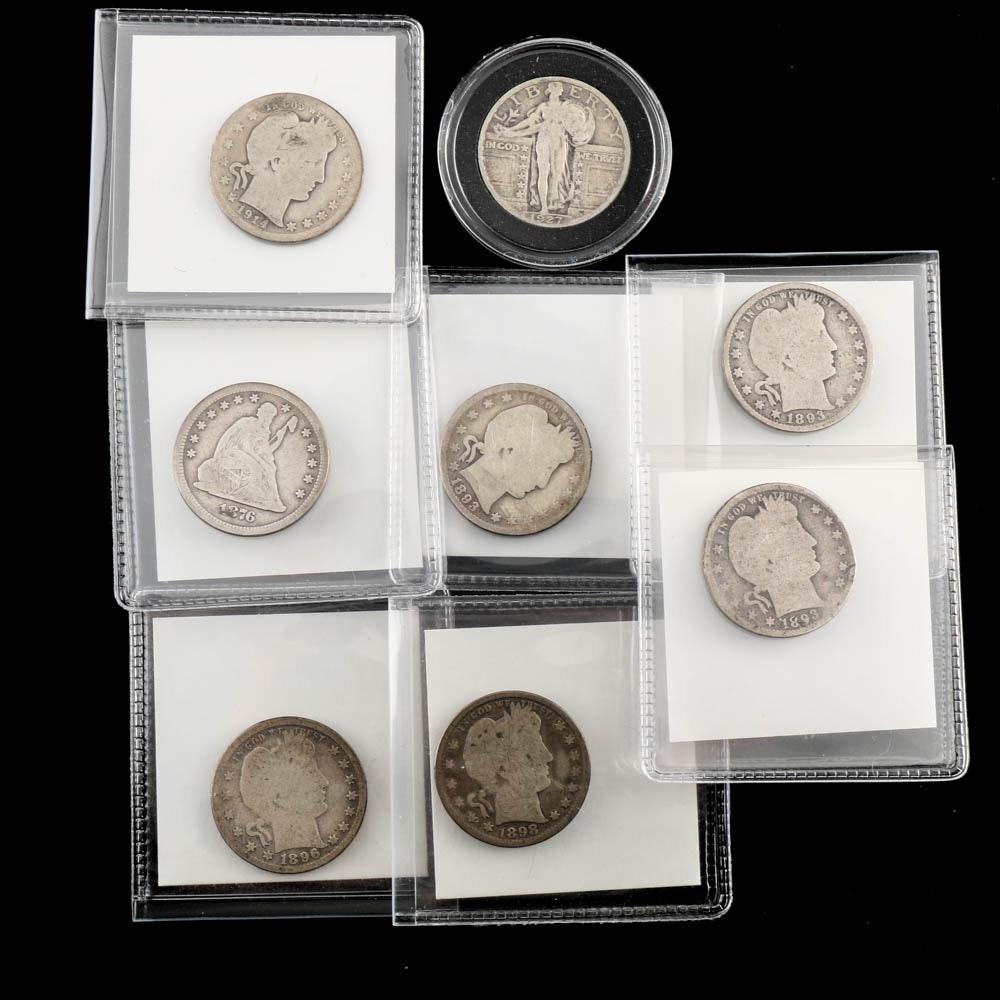 Antique United States Silver Quarters